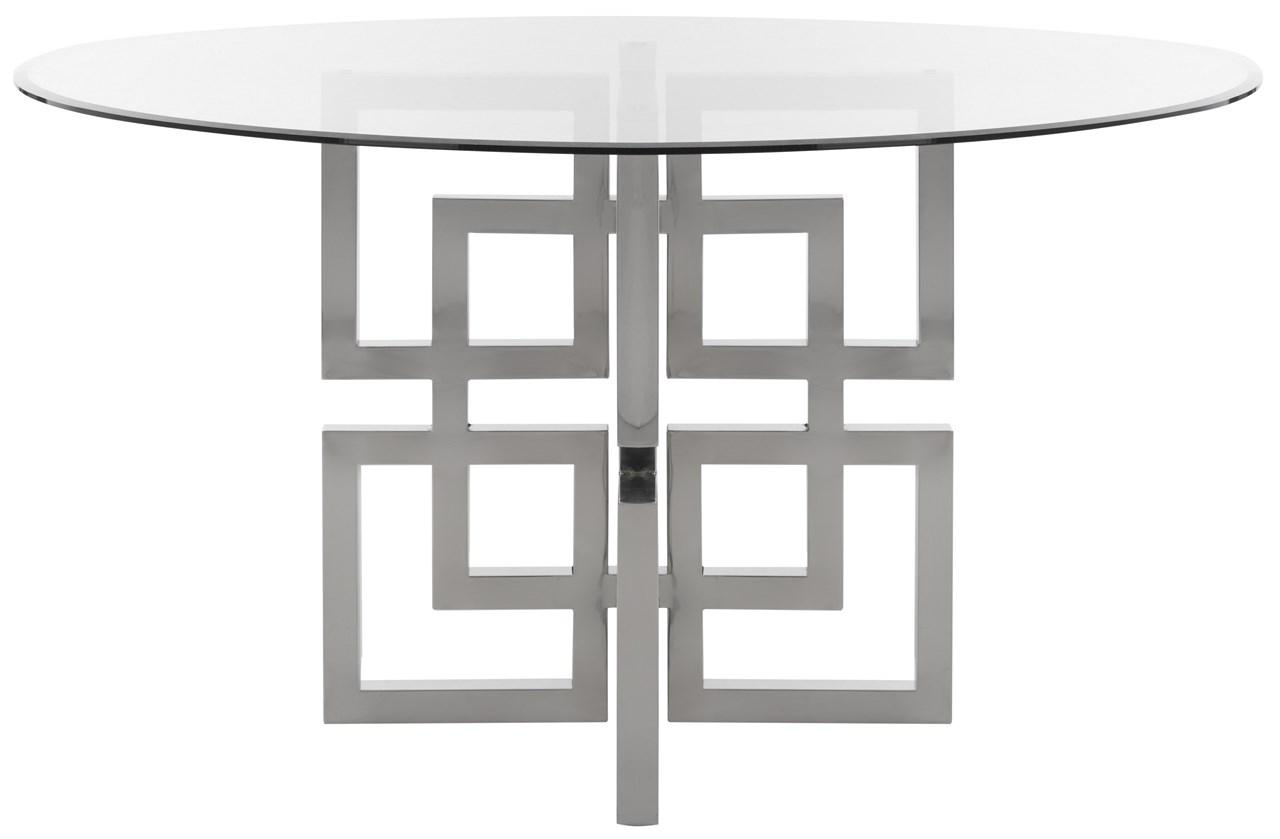 Fox9052A 2Bx – Safavieh In Well Known Long Dining Tables With Polished Black Stainless Steel Base (View 16 of 25)