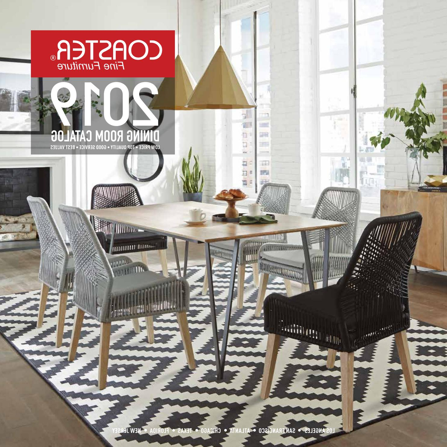 Frosted Glass Modern Dining Tables With Grey Finish Metal Tapered Legs Regarding 2019 Coaster 2019 Dining Room Catalogcoaster Company Of (View 13 of 25)