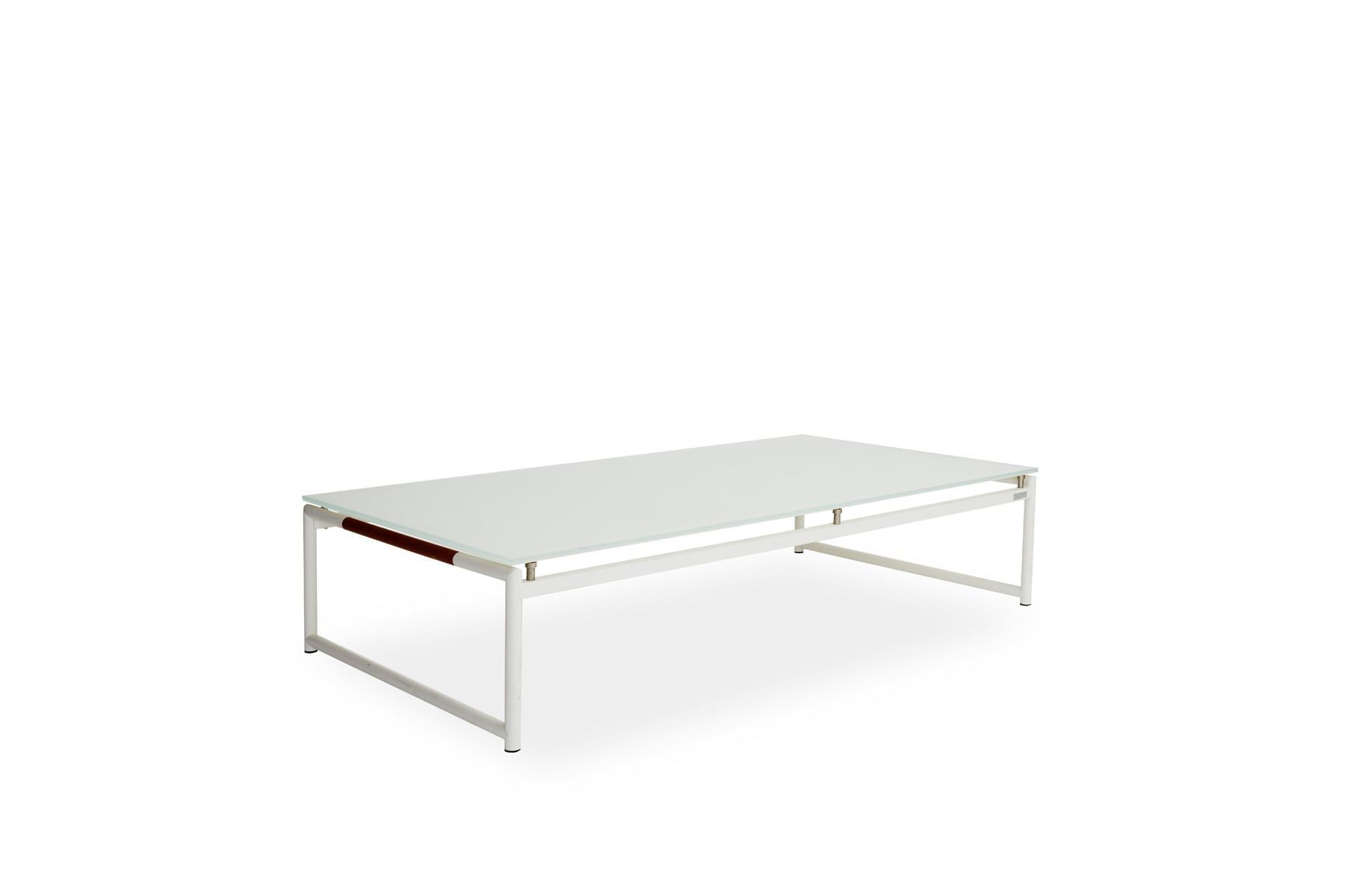 Frosted Glass Modern Dining Tables With Grey Finish Metal Tapered Legs Within Most Up To Date Breeze Coffee Table (View 11 of 25)