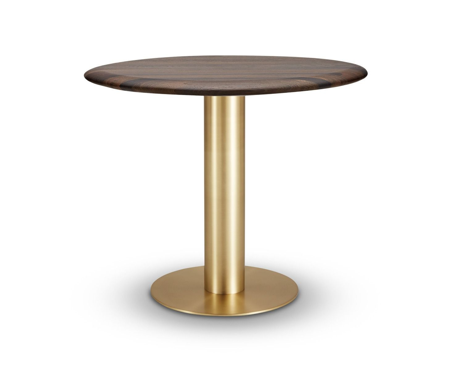Fumed Oak Dining Tables With Regard To Newest Tube Dining Table Brass Fumed Oak Top 900Mm (View 2 of 25)