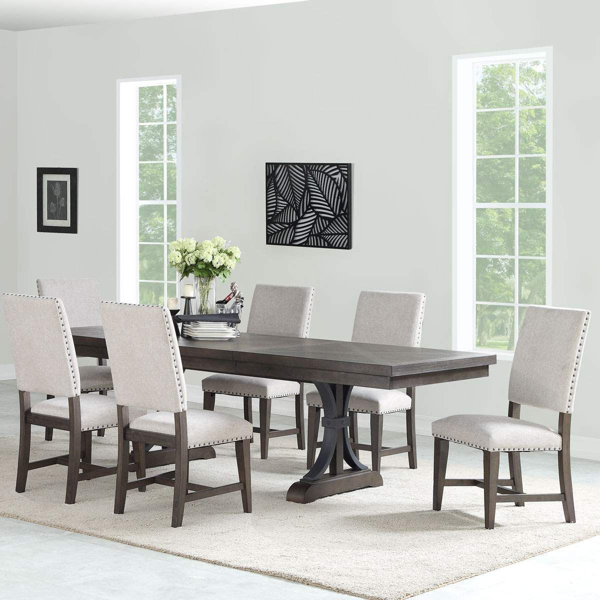 Furniture, Dining Table, Dining Room Sets Throughout Current Transitional 6 Seating Casual Dining Tables (View 9 of 25)
