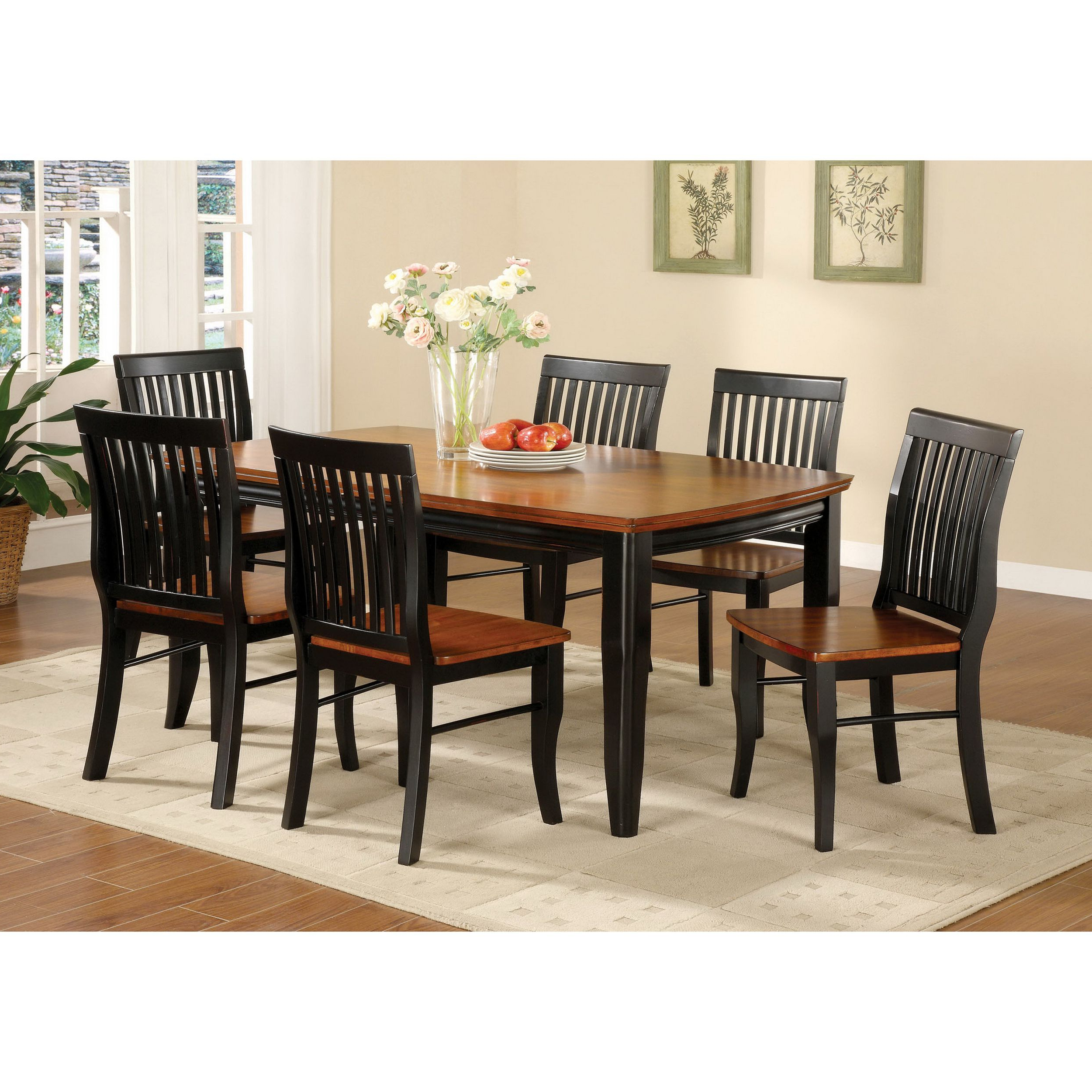 Featured Photo of Antique Black Wood Kitchen Dining Tables
