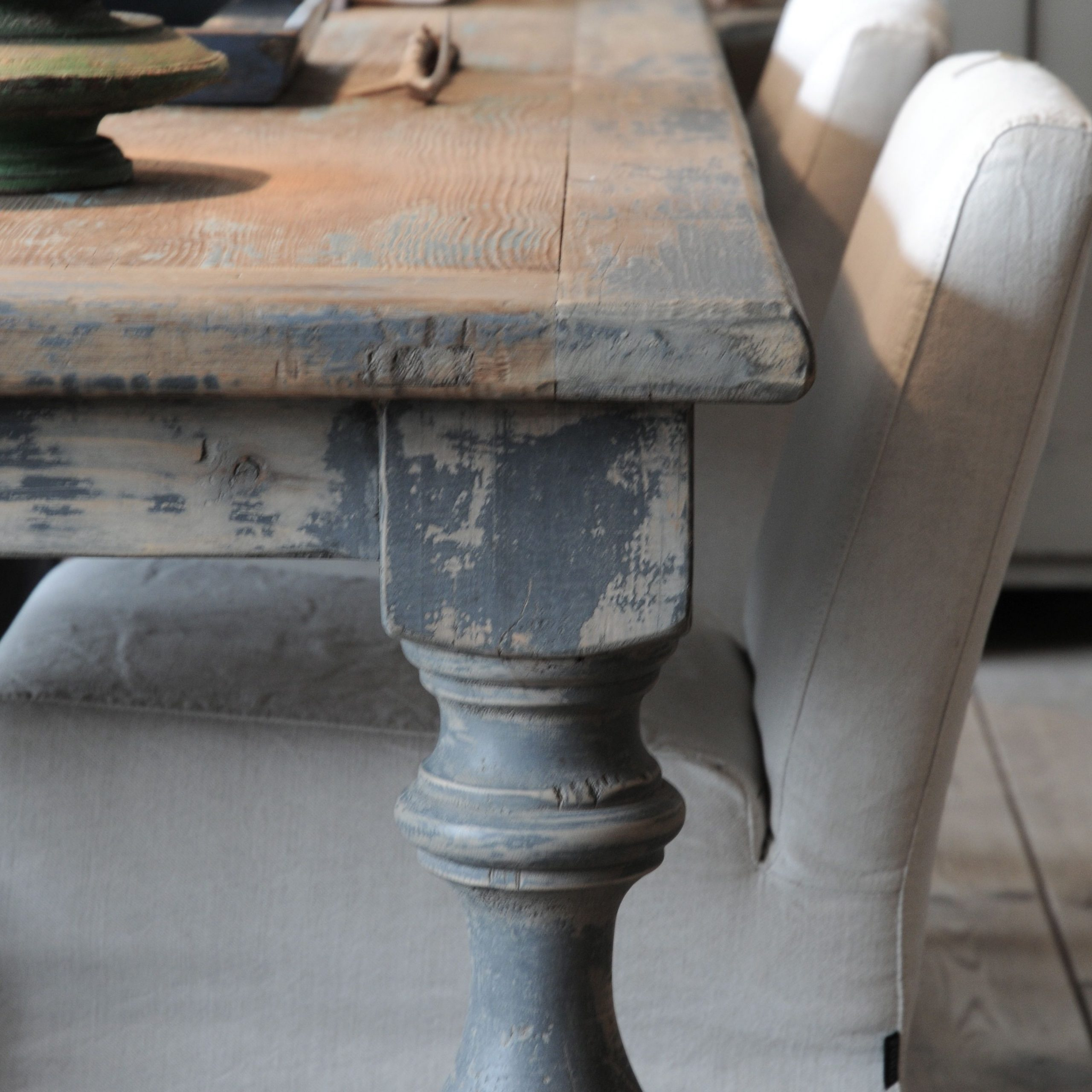 Furniture: This Weathered Dining Table Has A Unique Patina Inside Most Recent Country Dining Tables With Weathered Pine Finish (View 11 of 25)