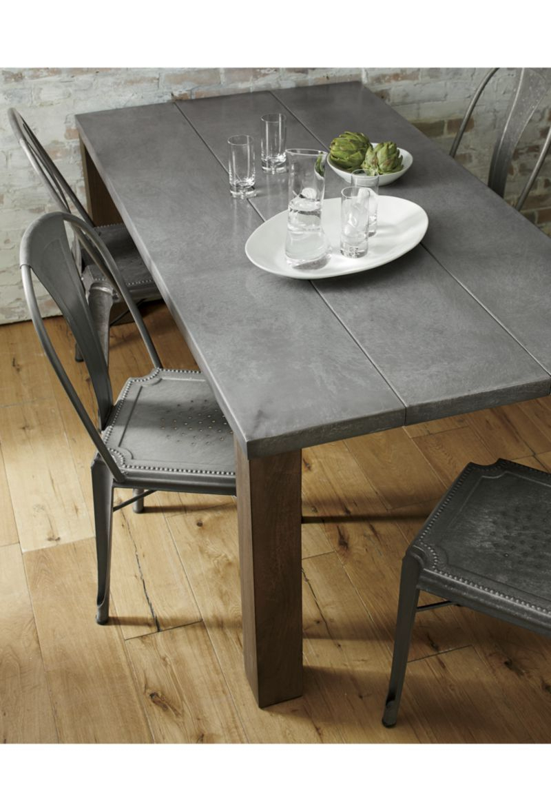 """Galvin 72"""" Metal Top Dining Table (View 14 of 25)"""