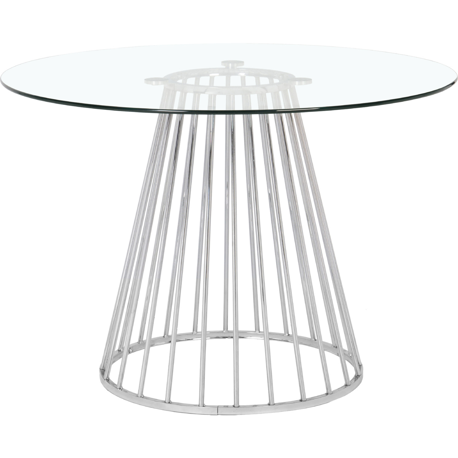 Featured Photo of Chrome Dining Tables With Tempered Glass