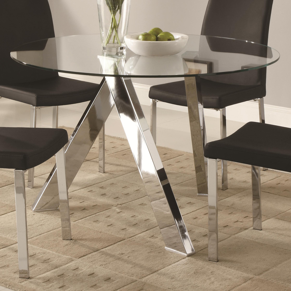 Glass Dining Tables With Metal Legs Throughout Widely Used Glass Top Dining Tables With Wood Base Furniture Beautiful (View 12 of 25)