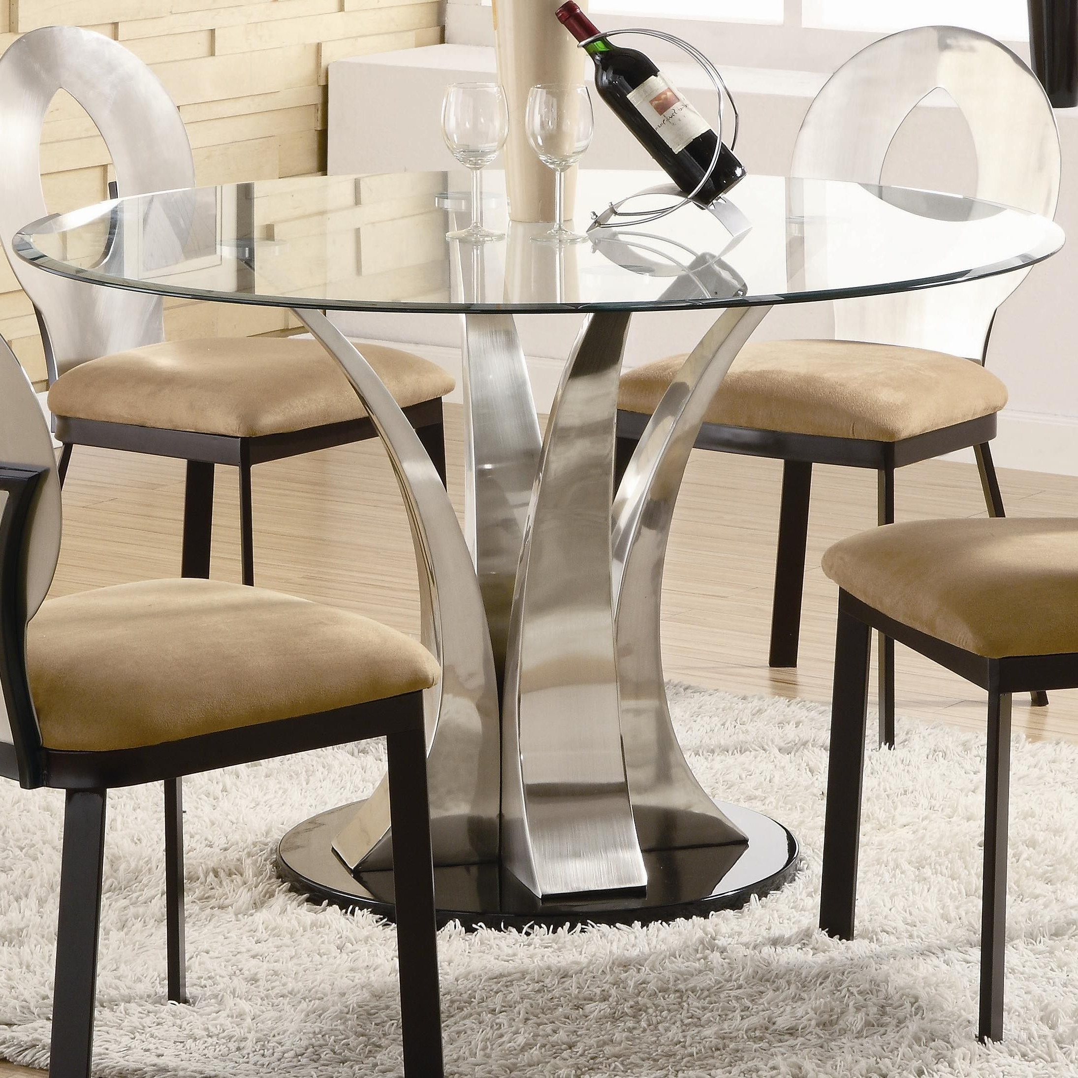 Featured Photo of Round Dining Tables With Glass Top