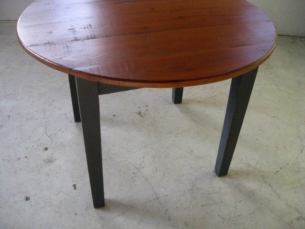 Hand Crafted Small Round Kitchen Dining Table With Pedestal Pertaining To Popular Small Round Dining Tables With Reclaimed Wood (View 18 of 25)