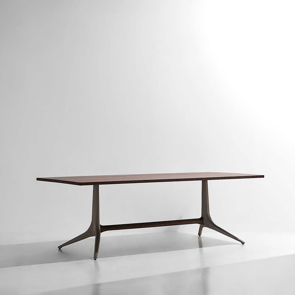 H&h Studio within Most Up-to-Date Dining Tables In Smoked/seared Oak