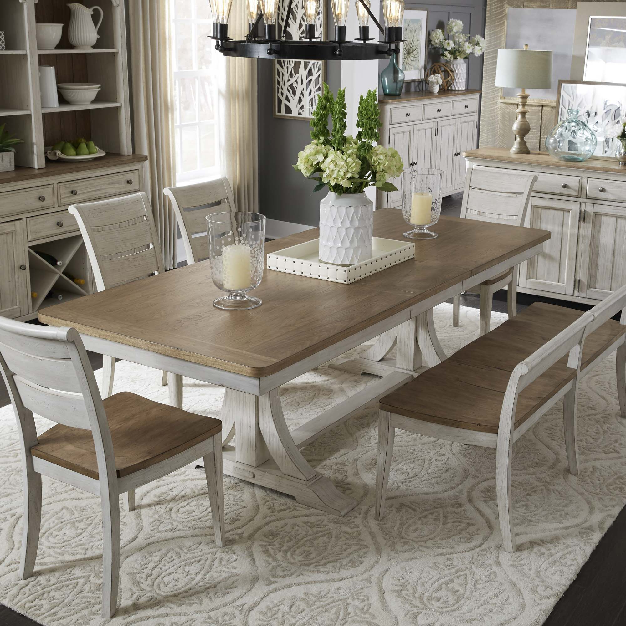 Homepage Title Pertaining To Widely Used Walnut And Antique White Finish Contemporary Country Dining Tables (View 22 of 25)