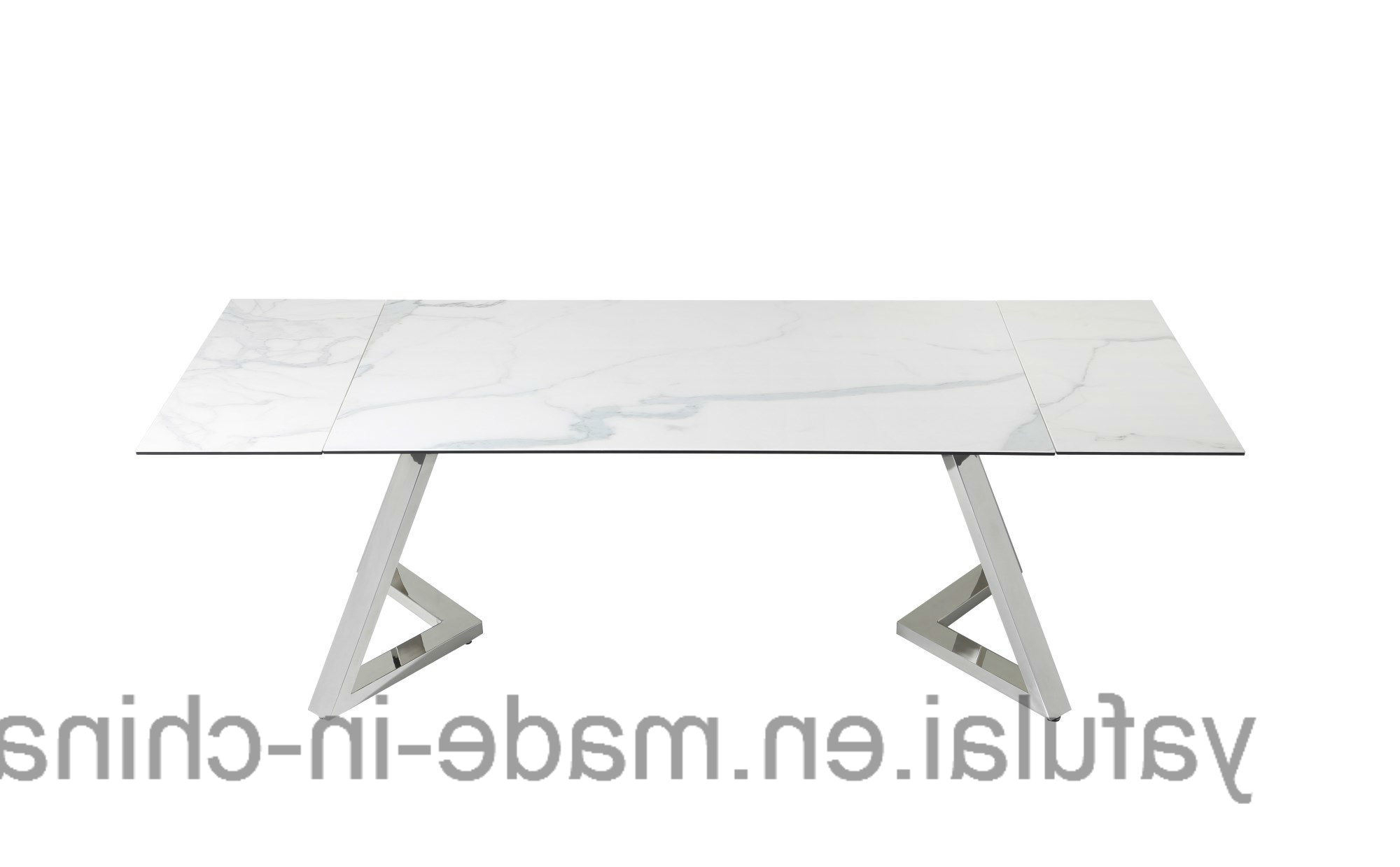 [%[Hot Item] Modern Extension Tempered Glass Ceramic Top Stainless Steel Dining Table Within Well Liked Modern Glass Top Extension Dining Tables In Stainless|Modern Glass Top Extension Dining Tables In Stainless In Current [Hot Item] Modern Extension Tempered Glass Ceramic Top Stainless Steel Dining Table|Popular Modern Glass Top Extension Dining Tables In Stainless Inside [Hot Item] Modern Extension Tempered Glass Ceramic Top Stainless Steel Dining Table|Well Known [Hot Item] Modern Extension Tempered Glass Ceramic Top Stainless Steel Dining Table With Regard To Modern Glass Top Extension Dining Tables In Stainless%] (View 5 of 25)