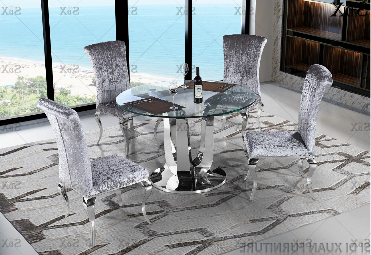 [%[Hot Item] Modern Round Glass Top Table Set Stainless Steel Base Dining Room Furniture Table Throughout Well Known Modern Round Glass Top Dining Tables|Modern Round Glass Top Dining Tables With Regard To Well Liked [Hot Item] Modern Round Glass Top Table Set Stainless Steel Base Dining Room Furniture Table|2019 Modern Round Glass Top Dining Tables Inside [Hot Item] Modern Round Glass Top Table Set Stainless Steel Base Dining Room Furniture Table|Famous [Hot Item] Modern Round Glass Top Table Set Stainless Steel Base Dining Room Furniture Table Regarding Modern Round Glass Top Dining Tables%] (View 12 of 25)