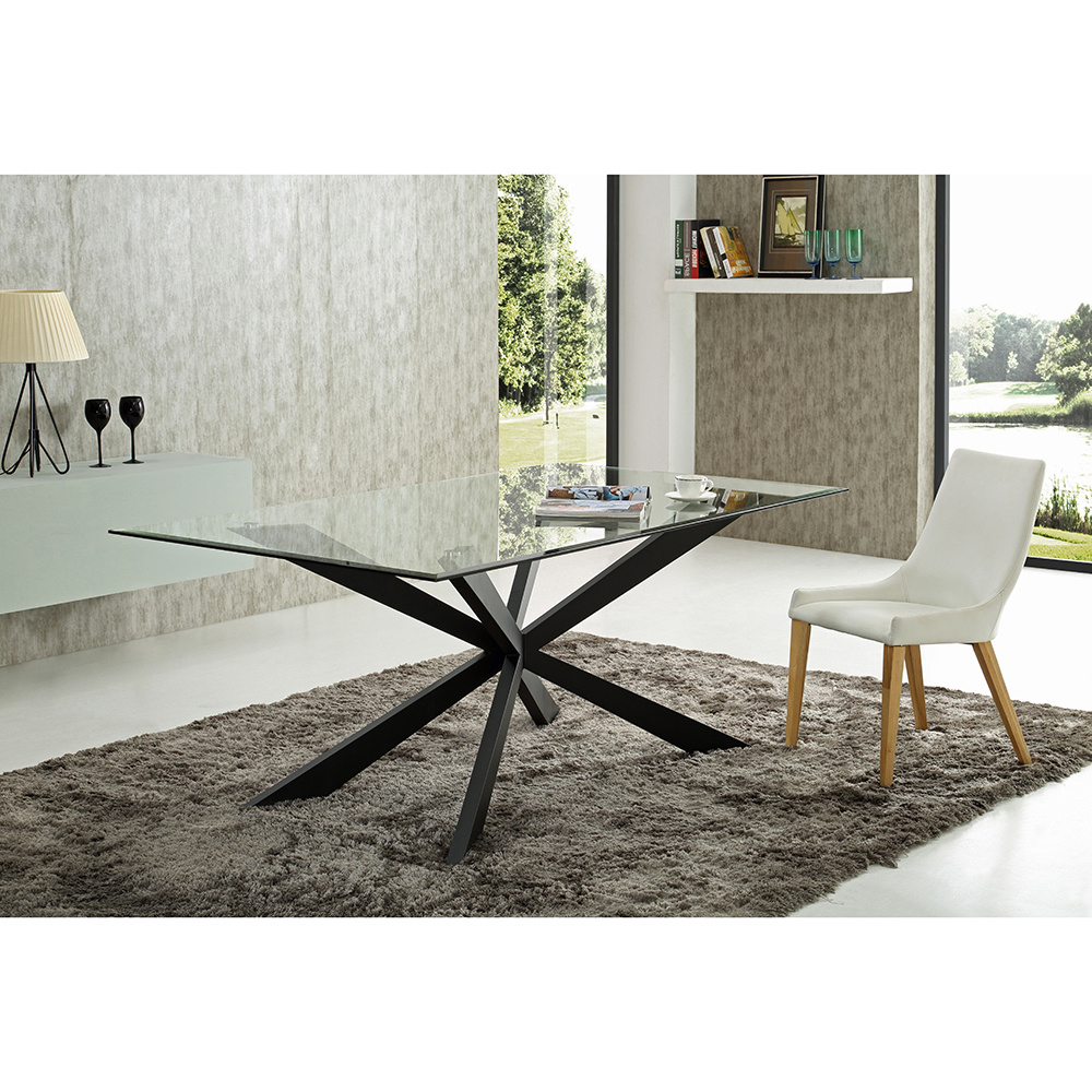 [%[Hot Item] New Design Glass Dining Table With Metal Leg Furniture Set Regarding Well Known Glass Dining Tables With Metal Legs|Glass Dining Tables With Metal Legs Inside Favorite [Hot Item] New Design Glass Dining Table With Metal Leg Furniture Set|Most Current Glass Dining Tables With Metal Legs Intended For [Hot Item] New Design Glass Dining Table With Metal Leg Furniture Set|Well Known [Hot Item] New Design Glass Dining Table With Metal Leg Furniture Set Within Glass Dining Tables With Metal Legs%] (View 23 of 25)