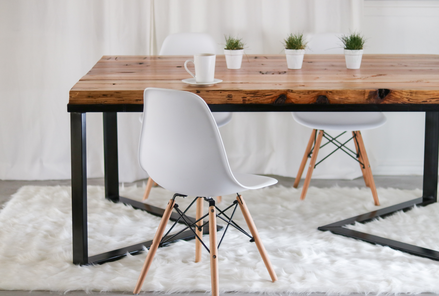 How I Made My Dining Table - Under $60- Diy Table - Scandinavian regarding Most Popular Iron Wood Dining Tables