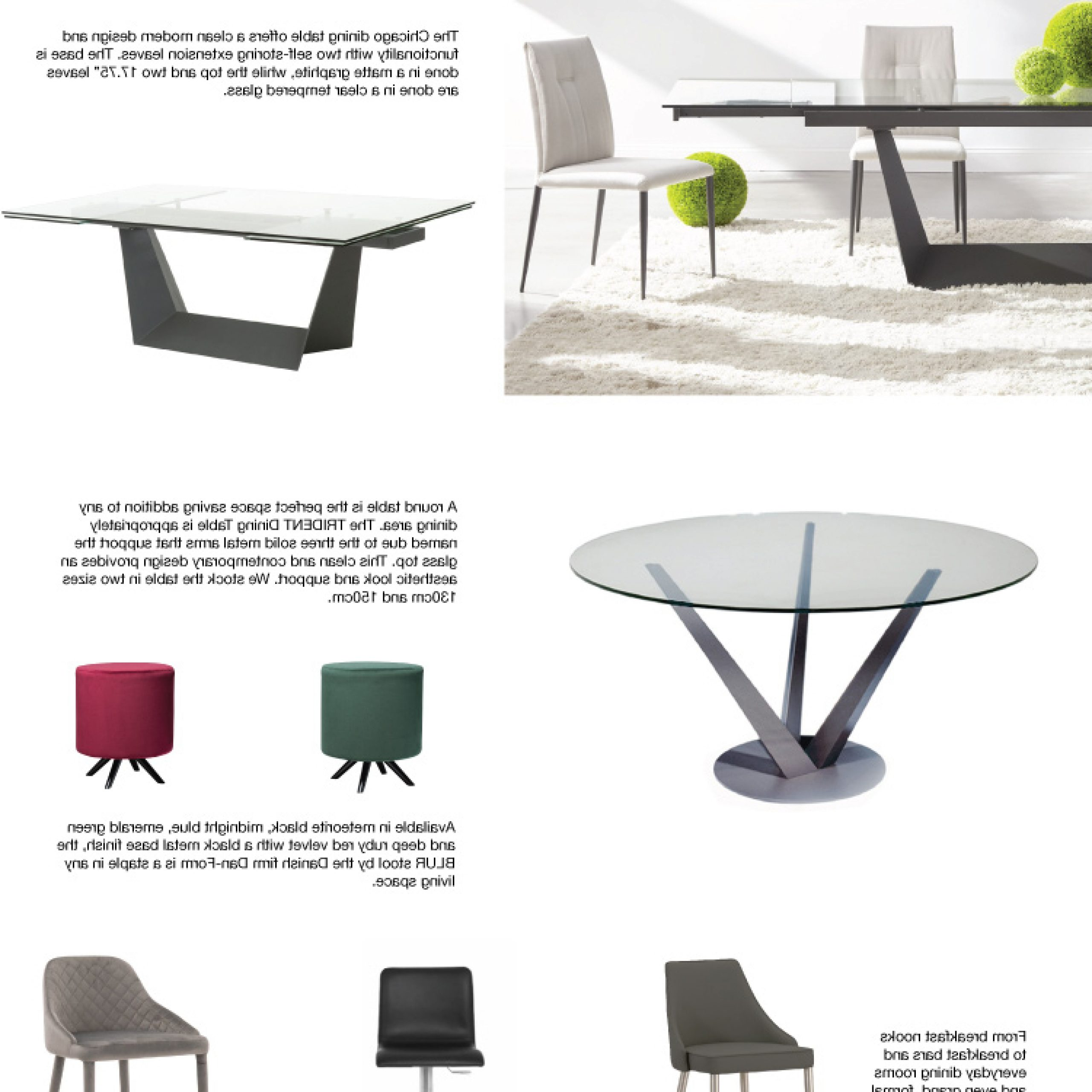 Inspiration Furniture Pertaining To Glass Top Condo Dining Tables (View 17 of 25)
