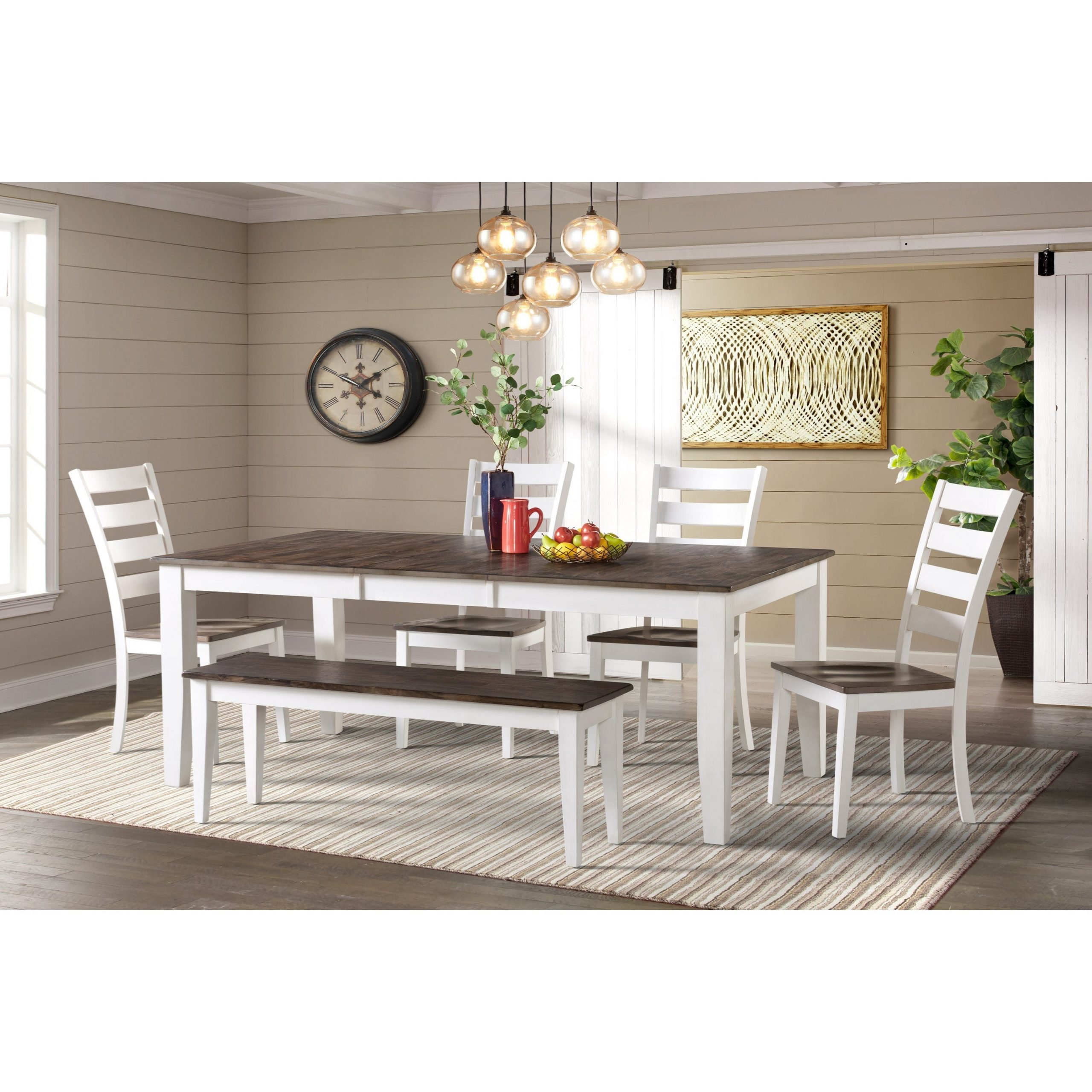 Intercon Kona Transitional 6 Piece Dining Room Set With Intended For Well Known Bistro Transitional 4 Seating Square Dining Tables (View 11 of 24)