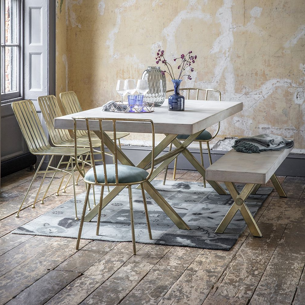 Iron Dining Tables With Mango Wood With Regard To Trendy Chevron Dining Table – Large (View 25 of 25)