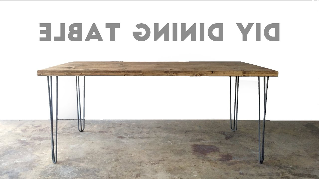 Iron Wood Dining Tables With Metal Legs Inside Recent How To Build A Dining Table (View 24 of 25)