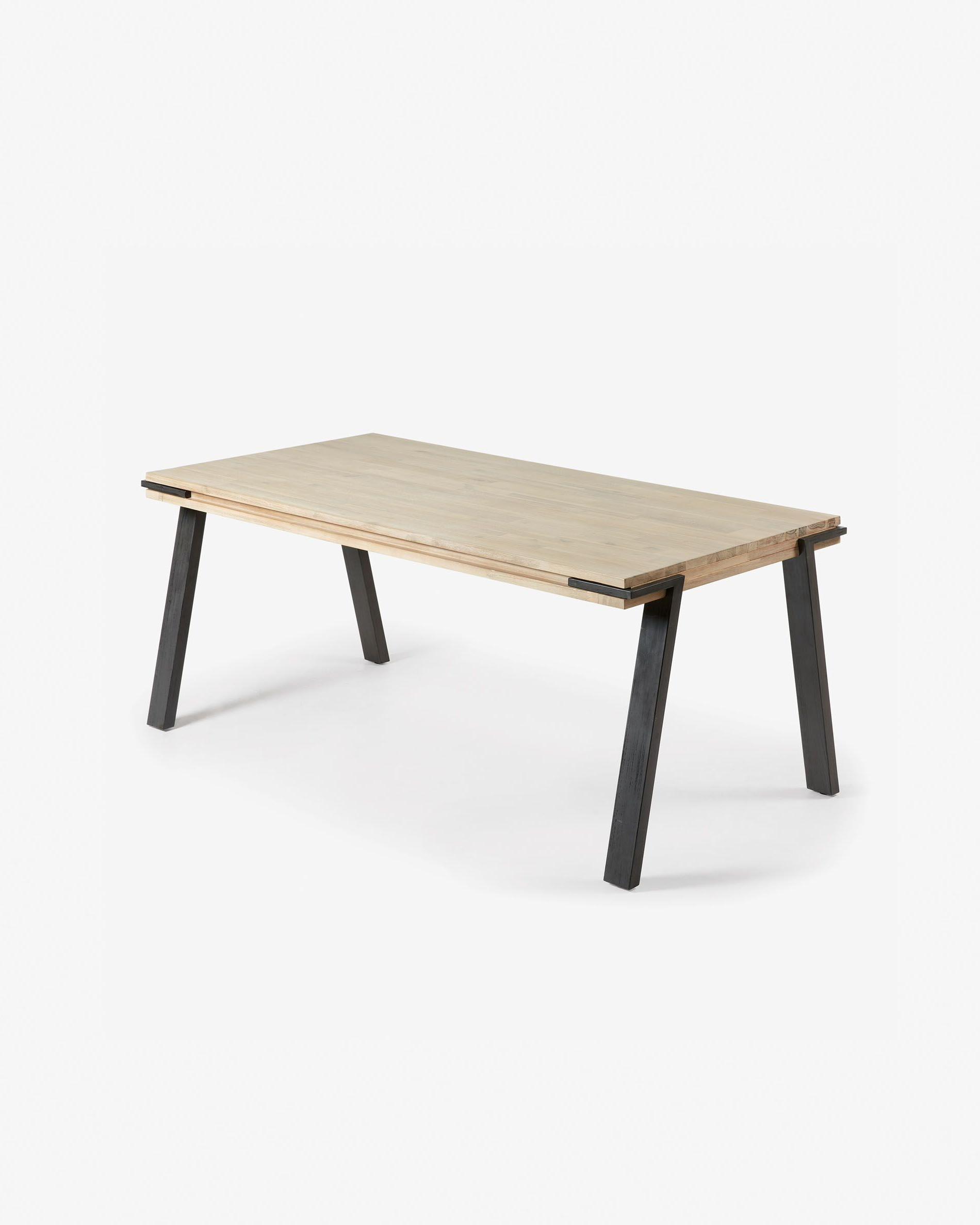 Kave Home Inside Fashionable Acacia Dining Tables With Black X Legs (View 17 of 25)