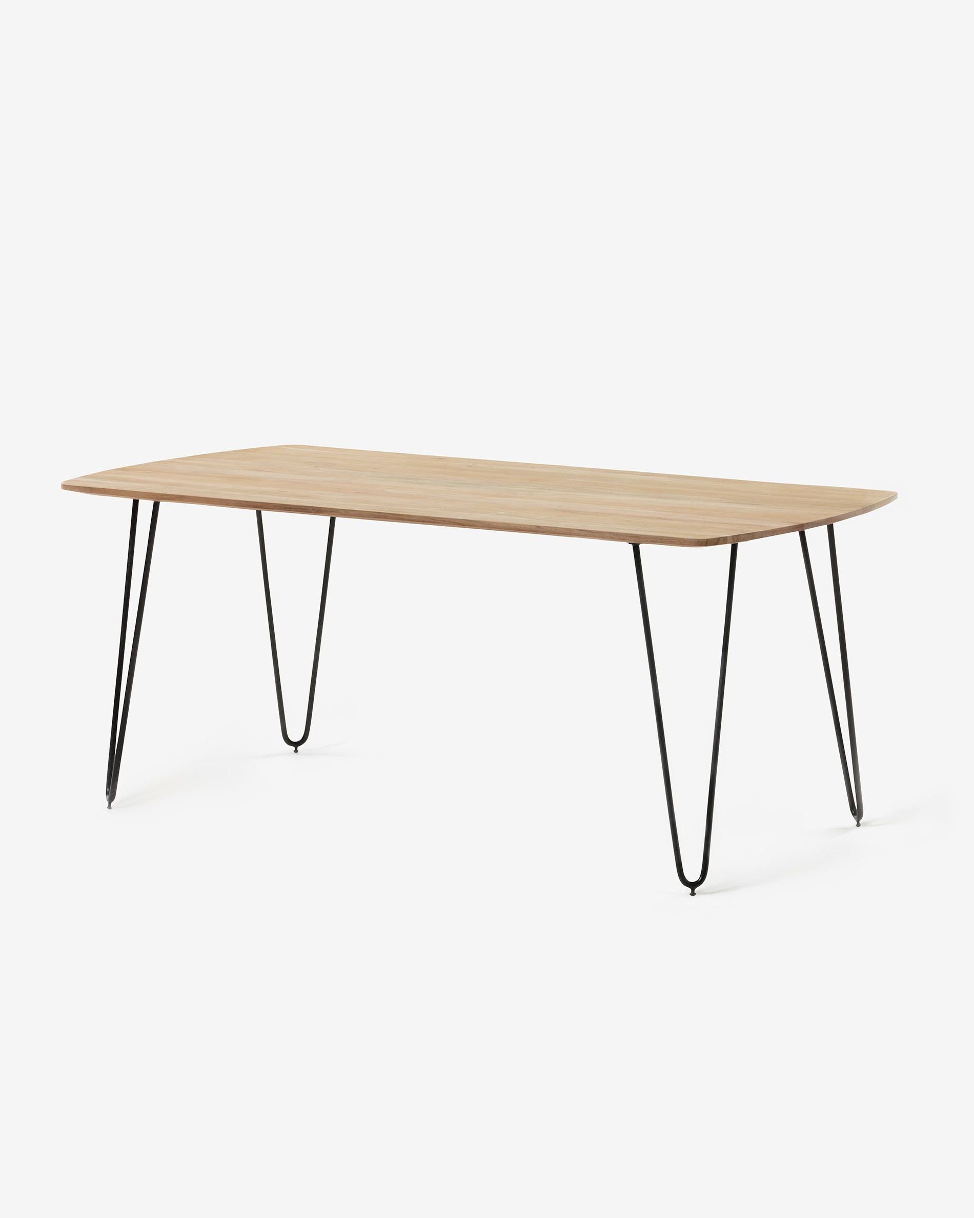 Kave Home Throughout Newest Acacia Dining Tables With Black X Legs (View 22 of 25)