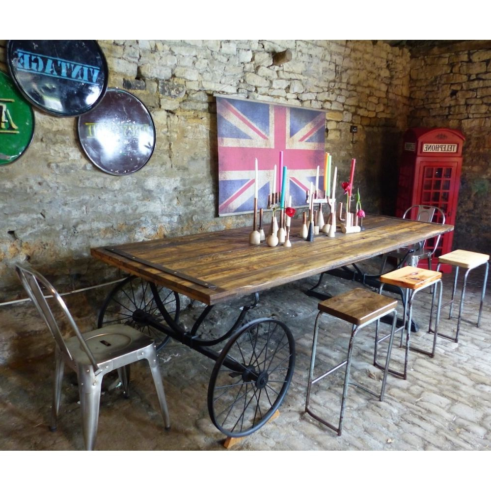 Large Rustic Look Dining Tables In Well Known Reclaimed Wood Farmhouse Table (View 19 of 25)