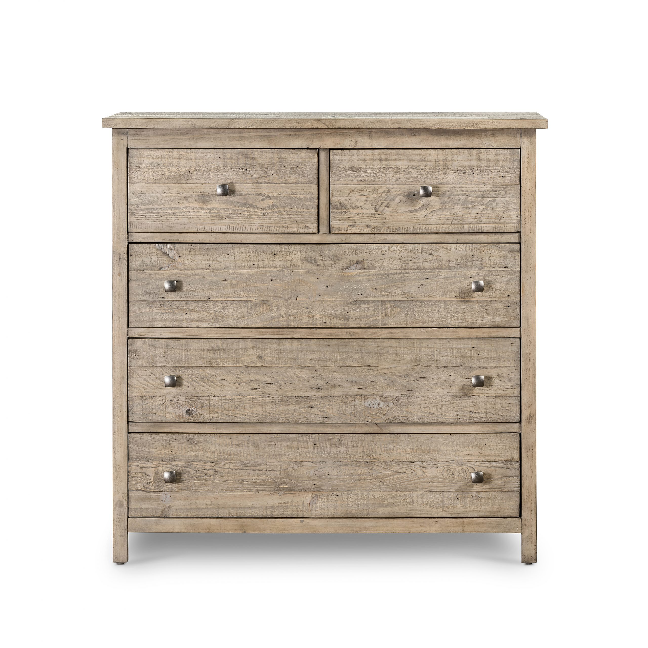 "Latest 45"" T Isabella Dresser Hand Crafted Reclaimed Pine Weathered For Small Dining Tables With Rustic Pine Ash Brown Finish (View 18 of 25)"