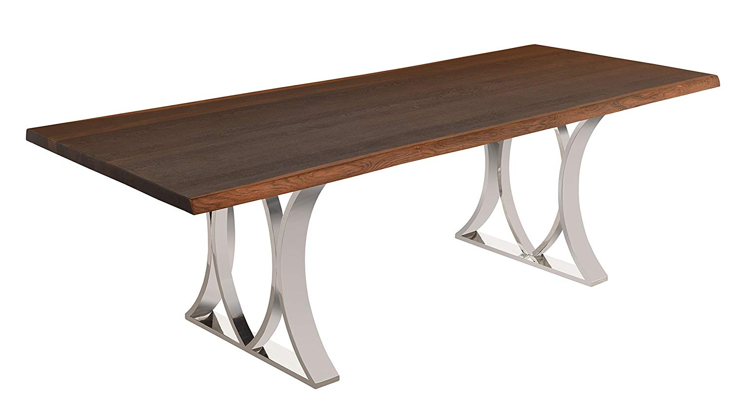 Latest Dining Tables In Smoked/seared Oak Within Amazon – Nuevo Rectangular Mila Dining Table With Matte (View 9 of 25)