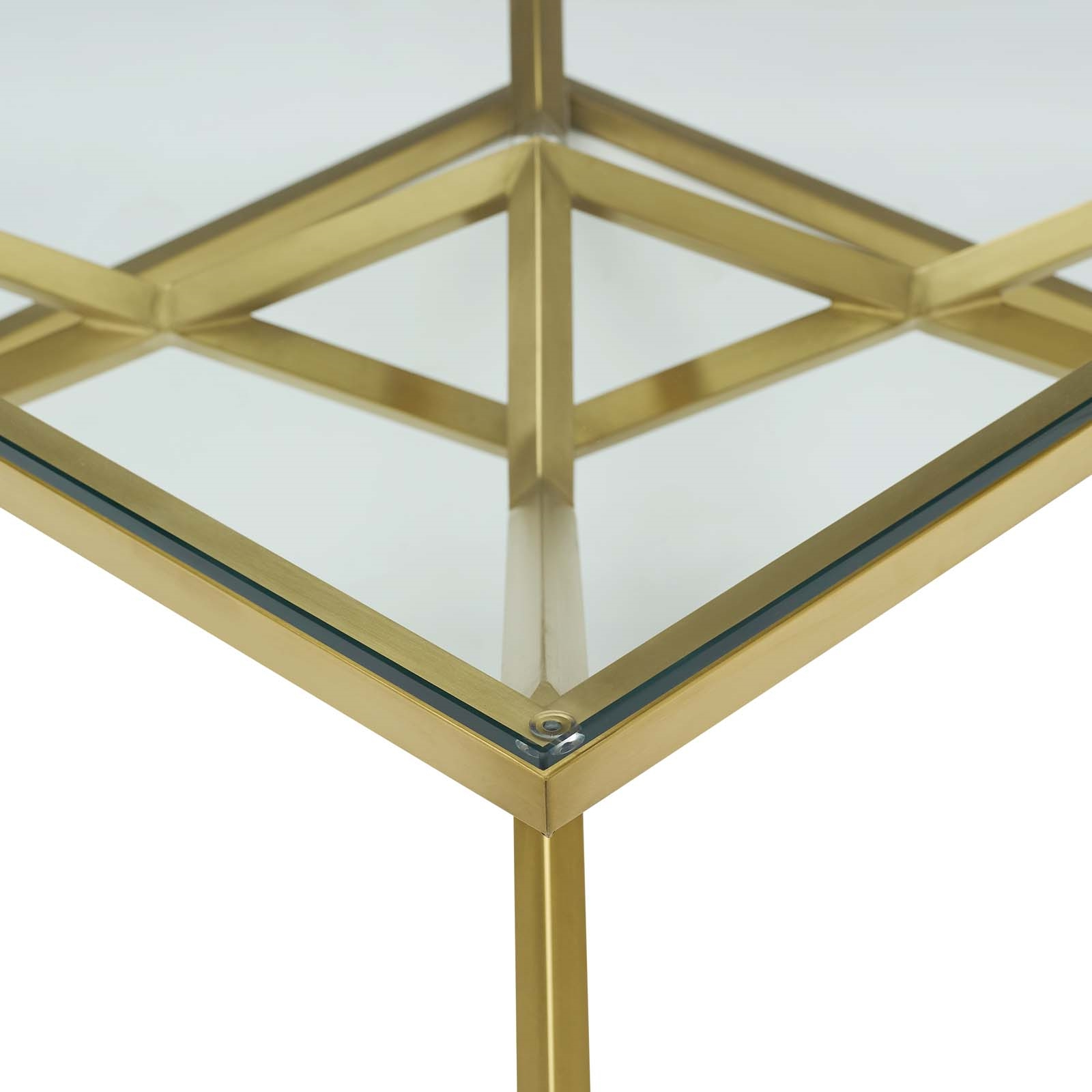 Latest Dining Tables With Brushed Gold Stainless Finish Regarding Point (View 16 of 25)