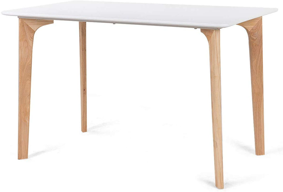 """Latest Giantex Modern Dining Table Mid Century Home Dining Room Kitchen Table W/rectangular Top Wood Legs 47.5"""" X (View 2 of 25)"""