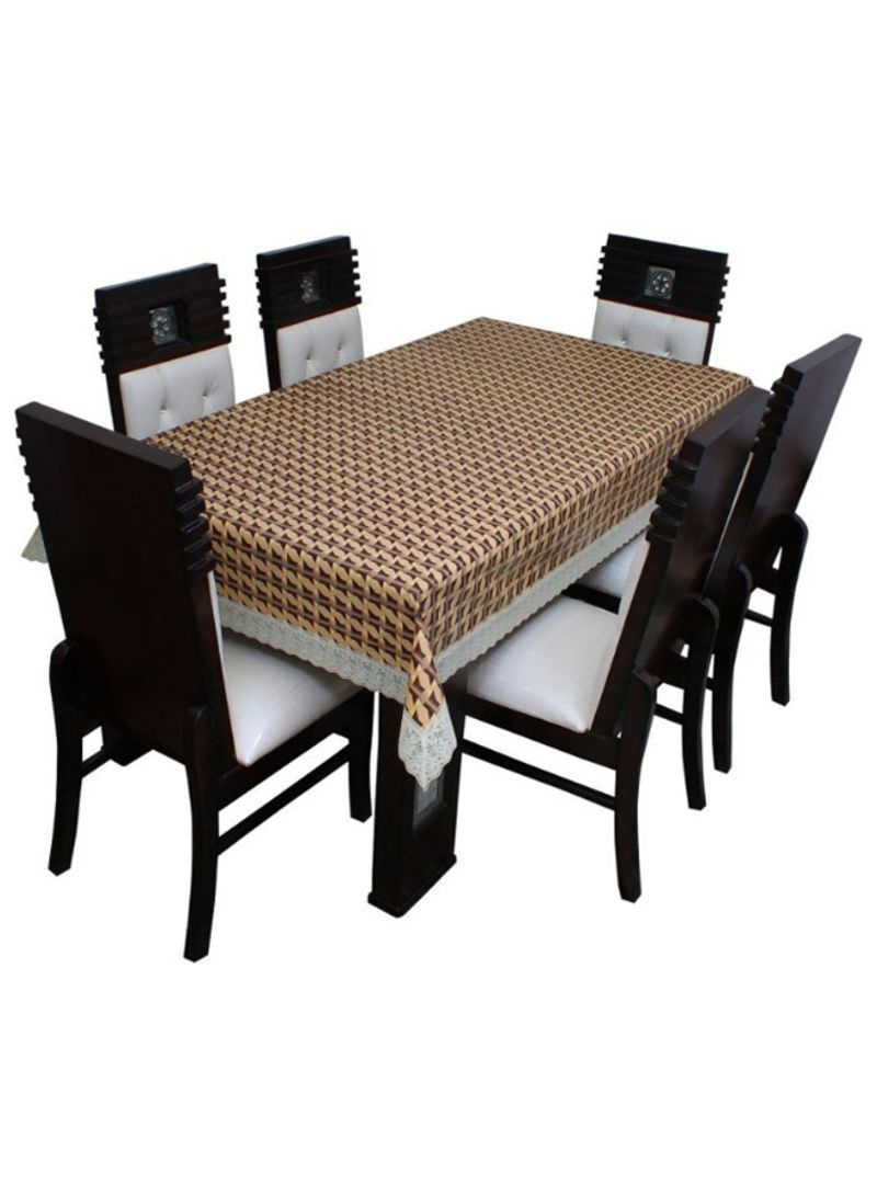 Latest Rectangular Dining Tables With Regard To Shop Floris Fashion 6 Seater Rectangular Dining Table Cover Multicolour  Online In Dubai, Abu Dhabi And All Uae (View 19 of 25)