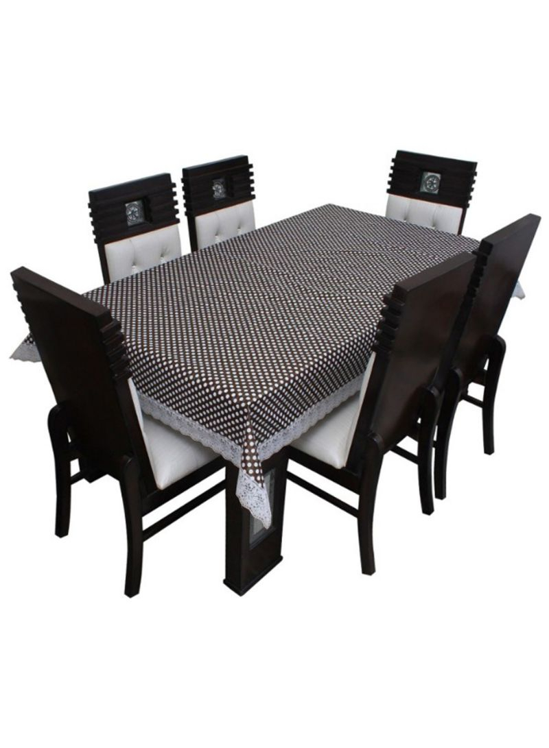 Latest Shop Floris Fashion 6 Seater Rectangular Dining Table Cover Brown/white  Online In Dubai, Abu Dhabi And All Uae With Regard To Rectangular Dining Tables (View 6 of 25)