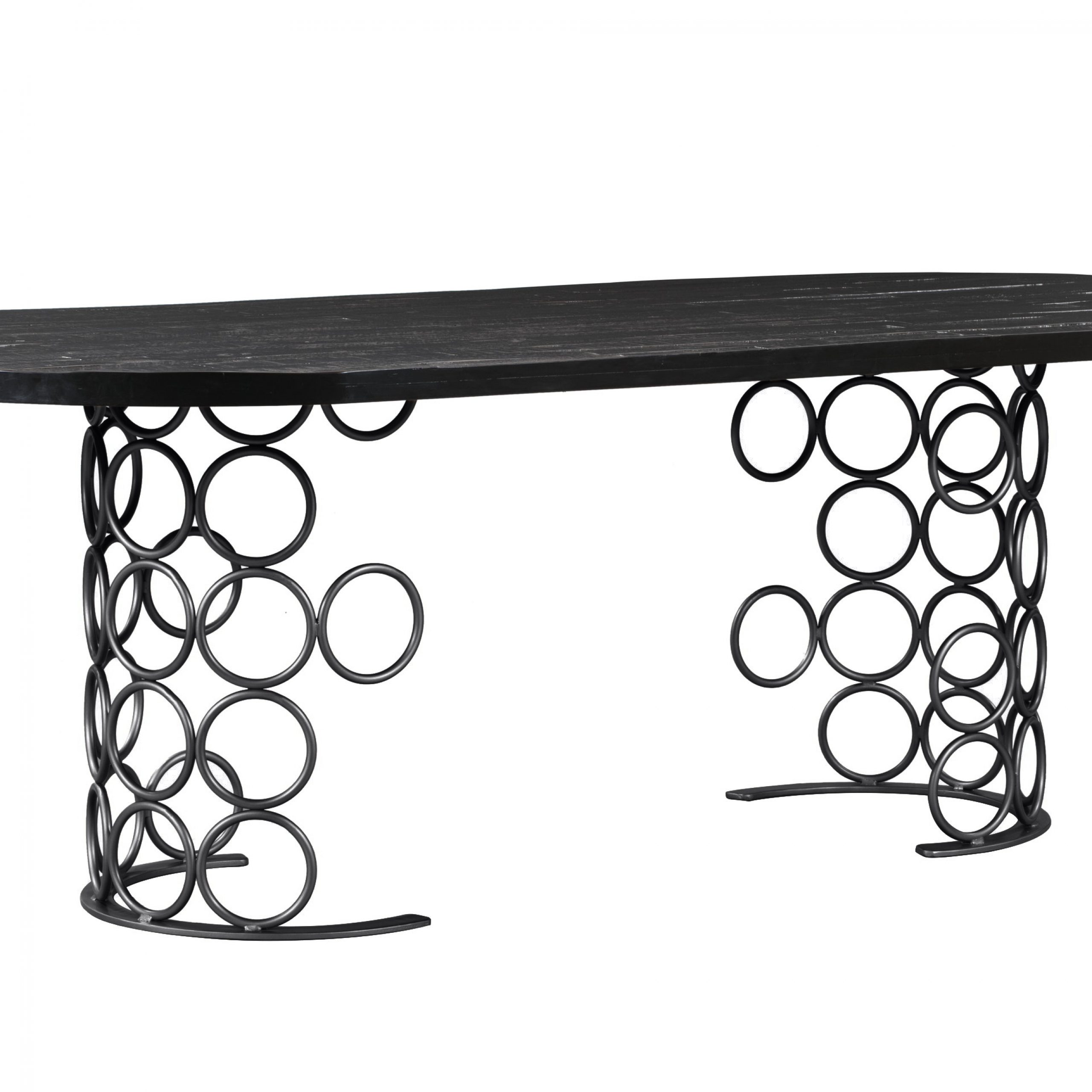 Latest Valentina Black Dining Table Regarding Acacia Dining Tables With Black X Leg (View 15 of 25)