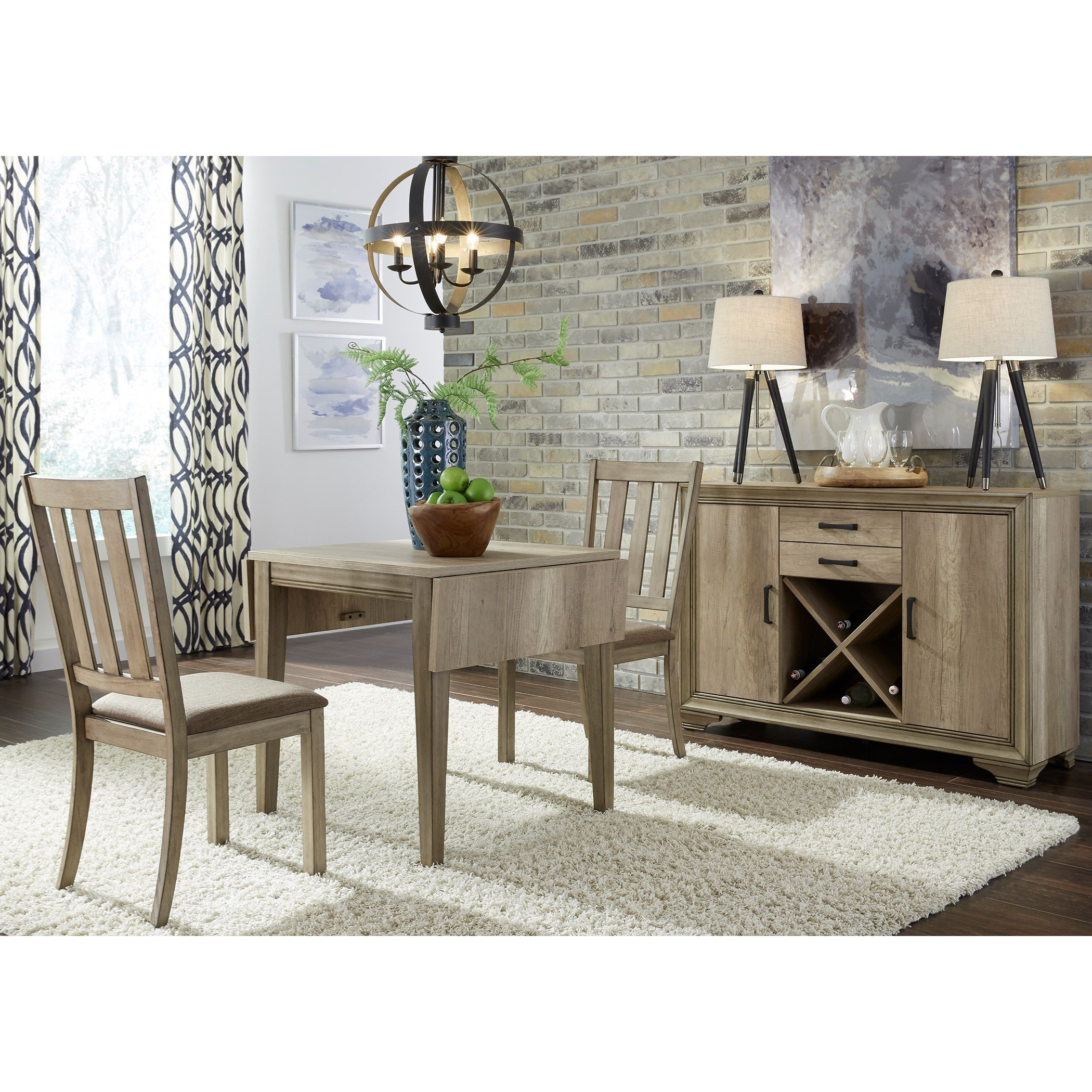 Liberty Furniture Sun Valley 439 Dr 3Dls 3 Piece Drop Leaf Pertaining To Latest Transitional 4 Seating Double Drop Leaf Casual Dining Tables (View 16 of 25)
