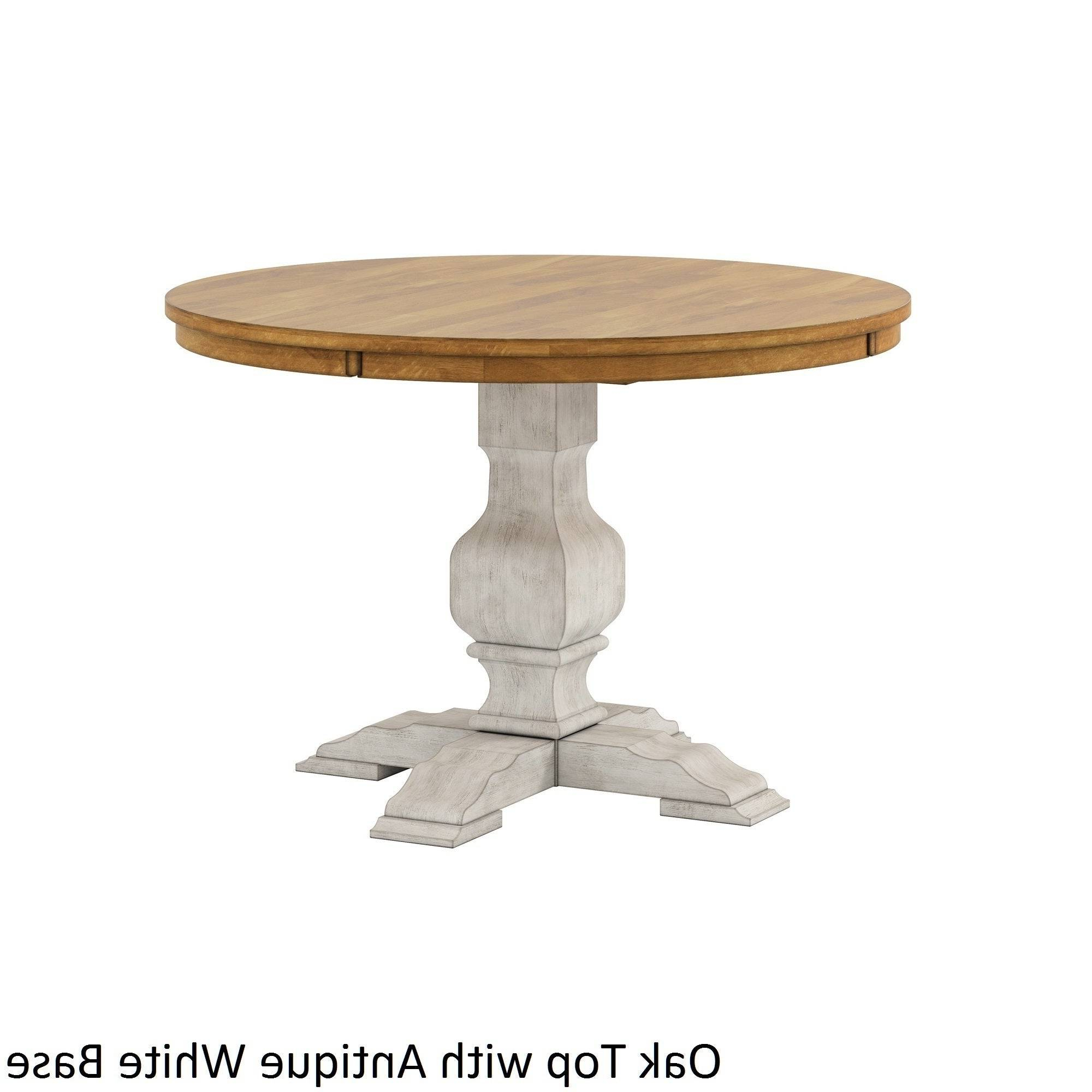 Likable Round Dining Table Wood Top Splendid Furniture Room With Fashionable Solid Wood Circular Dining Tables White (View 19 of 25)
