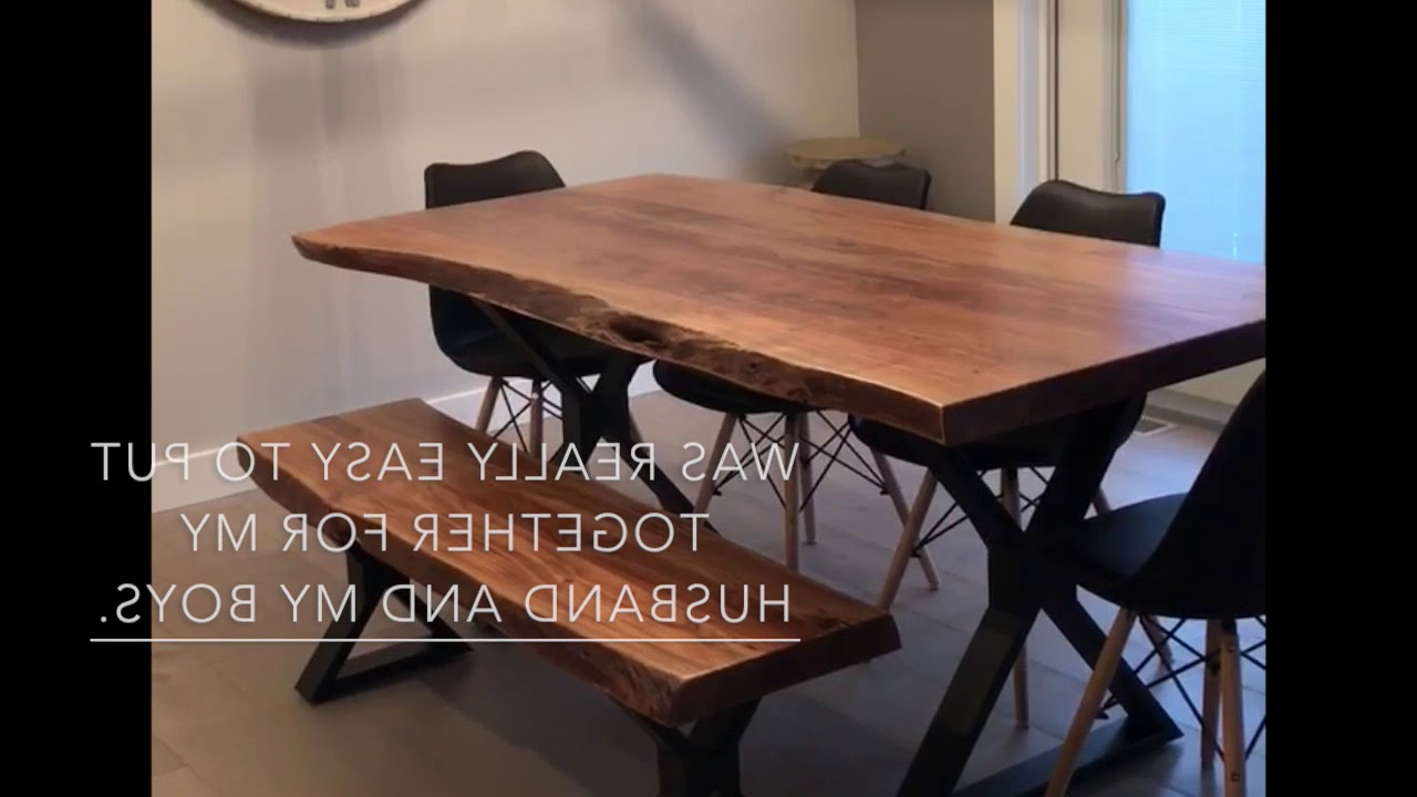Live Edge Acacia Table With Black X Legs Review In Preferred Acacia Dining Tables With Black X Legs (View 19 of 25)