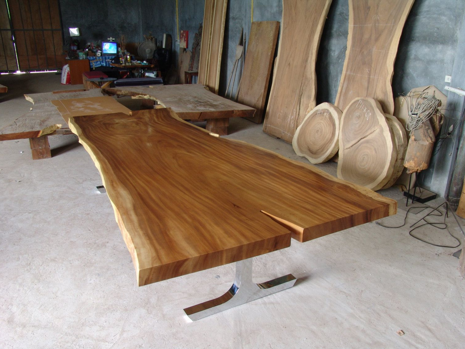 Live Edge Dining Table Reclaimed Solid Slab Acacia Wood 10 With Most Up To Date Unique Acacia Wood Dining Tables (View 10 of 25)