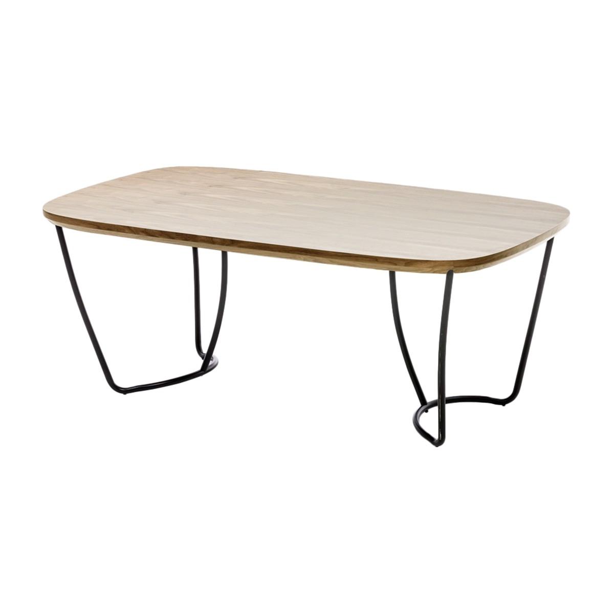 Loop Rectangular Dining Table (Black, Black Oak) Inside Preferred Rectangular Dining Tables (View 14 of 25)