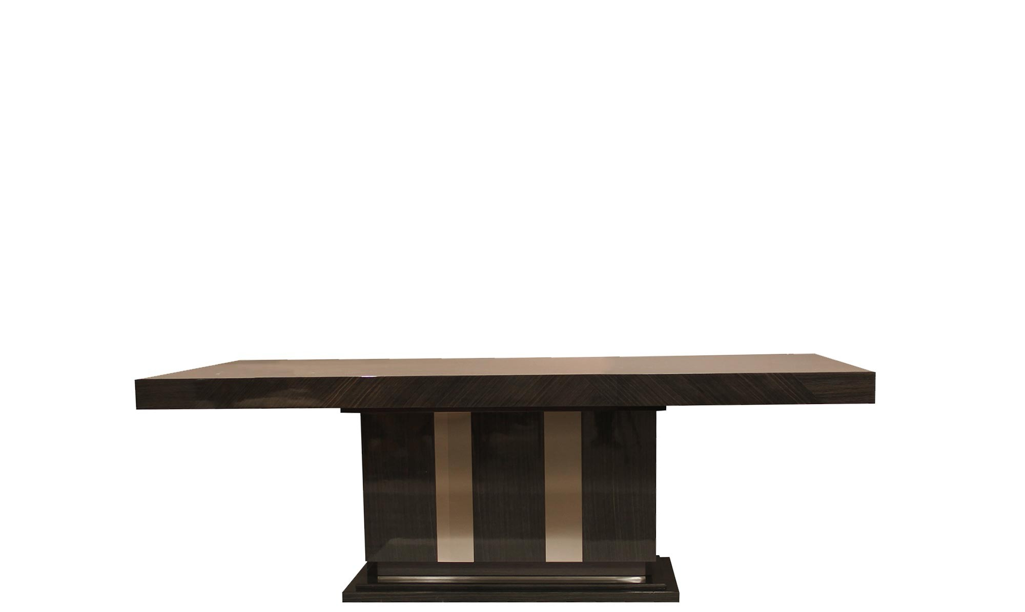 Marbella – 180Cm Rectangle Fixed Table In Fumed Oak High Gloss Finish For Most Up To Date Fumed Oak Dining Tables (View 9 of 25)