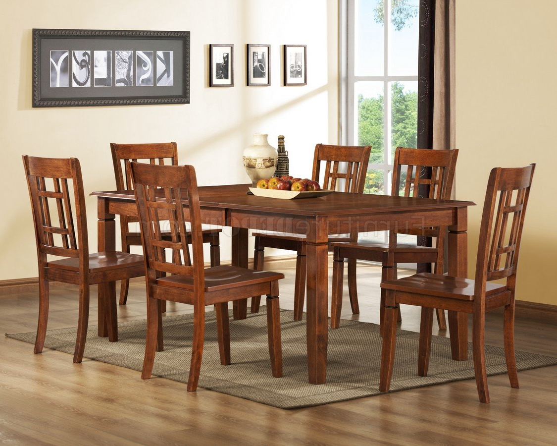 Medium Brown Cherry Modern Dining Table W/optional Side Chairs With Regard To Preferred Medium Dining Tables (View 12 of 25)