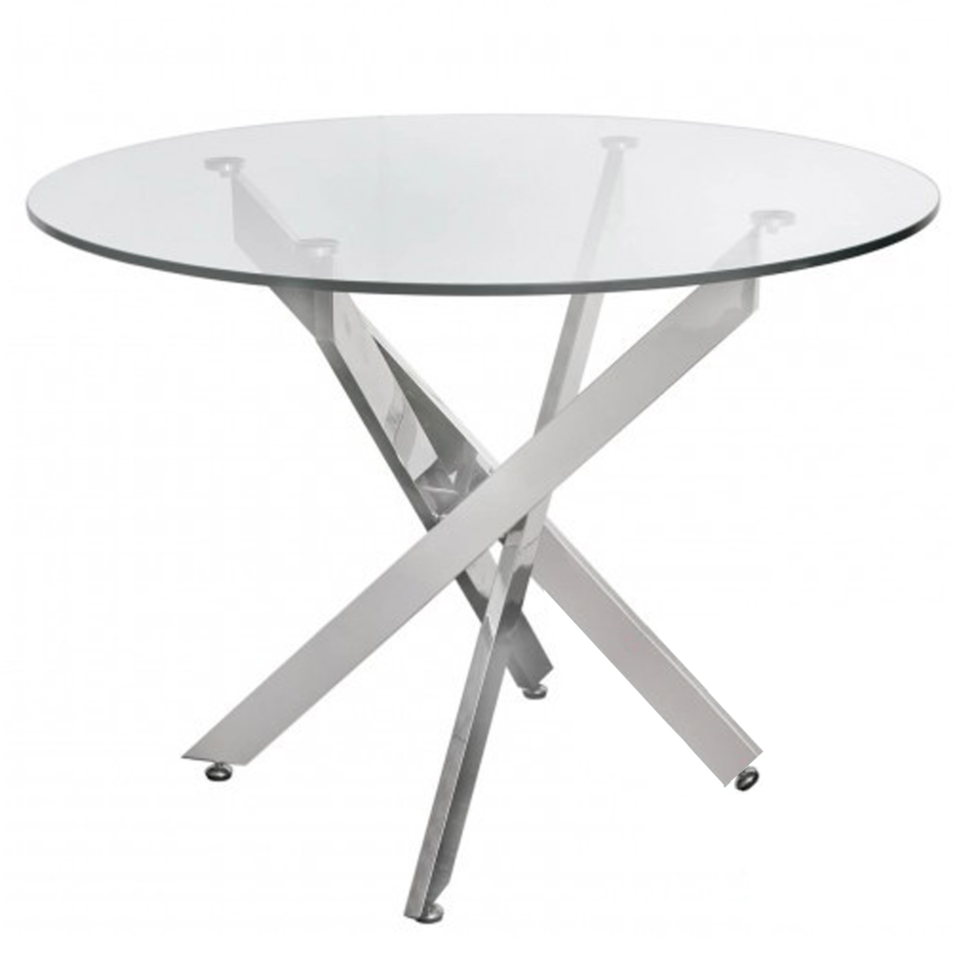 Medium Dining Tables Throughout Preferred Prato Medium Round Glass Dining Table (View 19 of 25)