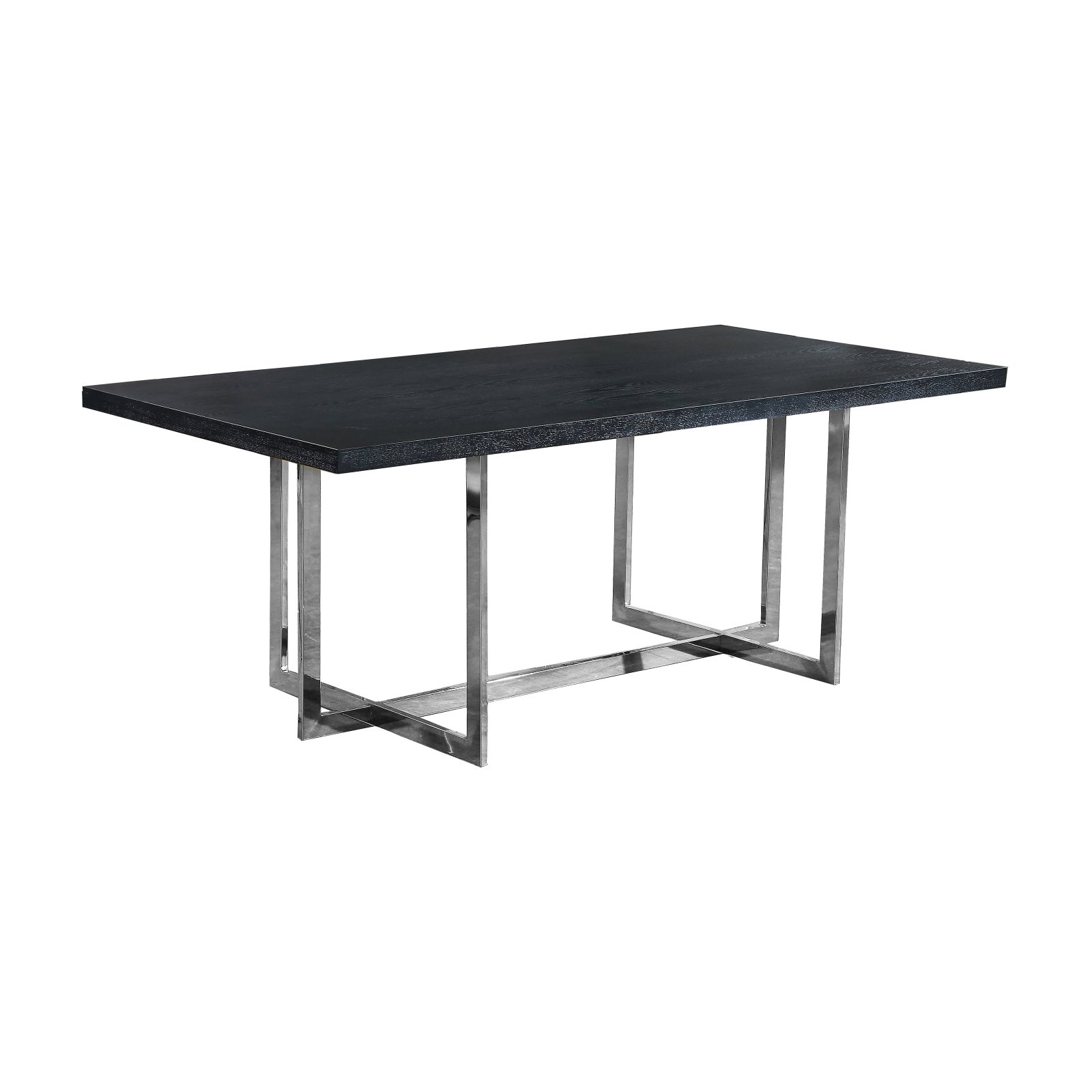 Meridian Furniture Inc Elle Rectangular Dining Table For Well Known Charcoal Transitional 6 Seating Rectangular Dining Tables (View 16 of 25)