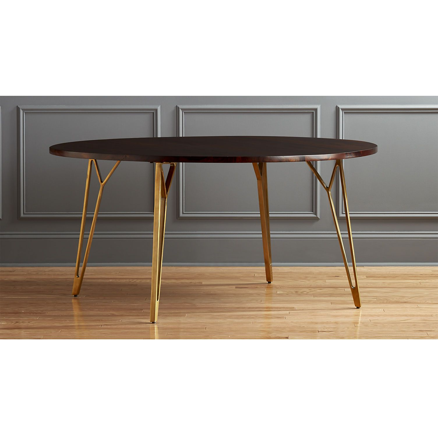 """Mid Century Rectangular Top Dining Tables With Wood Legs Regarding Trendy Shop Dial 60"""" Dining Table (View 25 of 25)"""