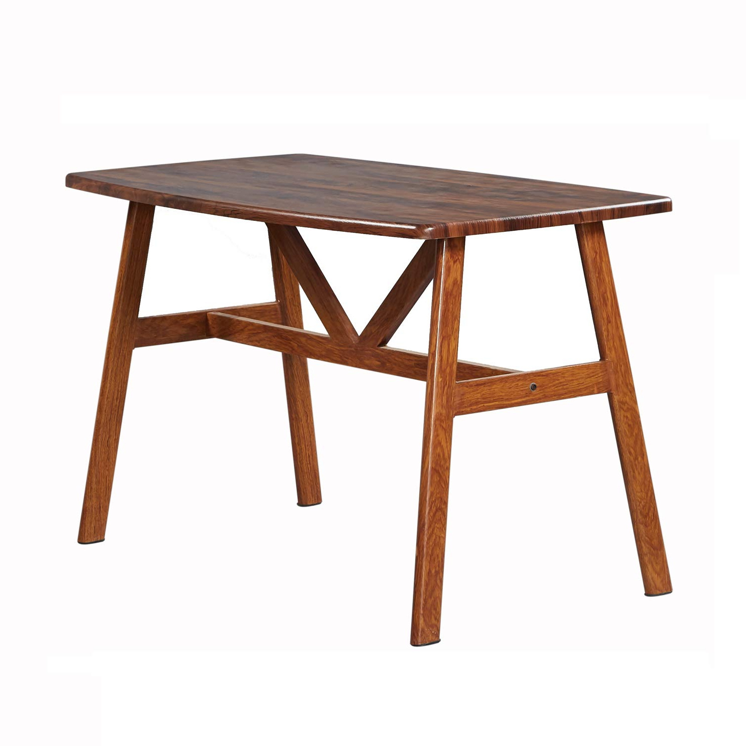 """Mid Century Rectangular Top Dining Tables With Wood Legs Within Favorite Greenforest Dining Table Modern Wood Top With Metal Legs Dining Room Table 48"""" X 28"""" Walnut (View 24 of 25)"""