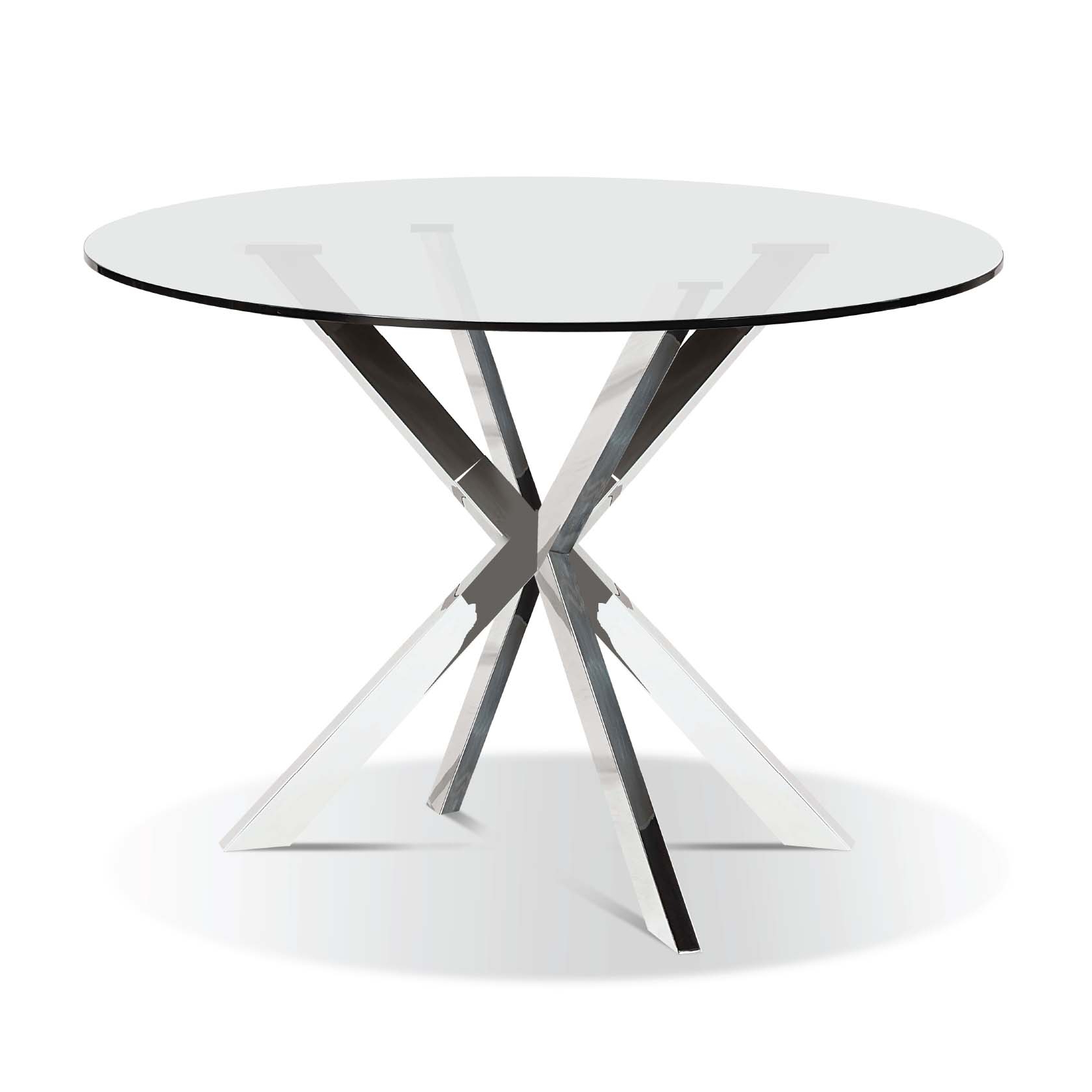 Modern Round Glasstop Dining Table For Most Popular Glass Top Condo Dining Tables (View 6 of 25)