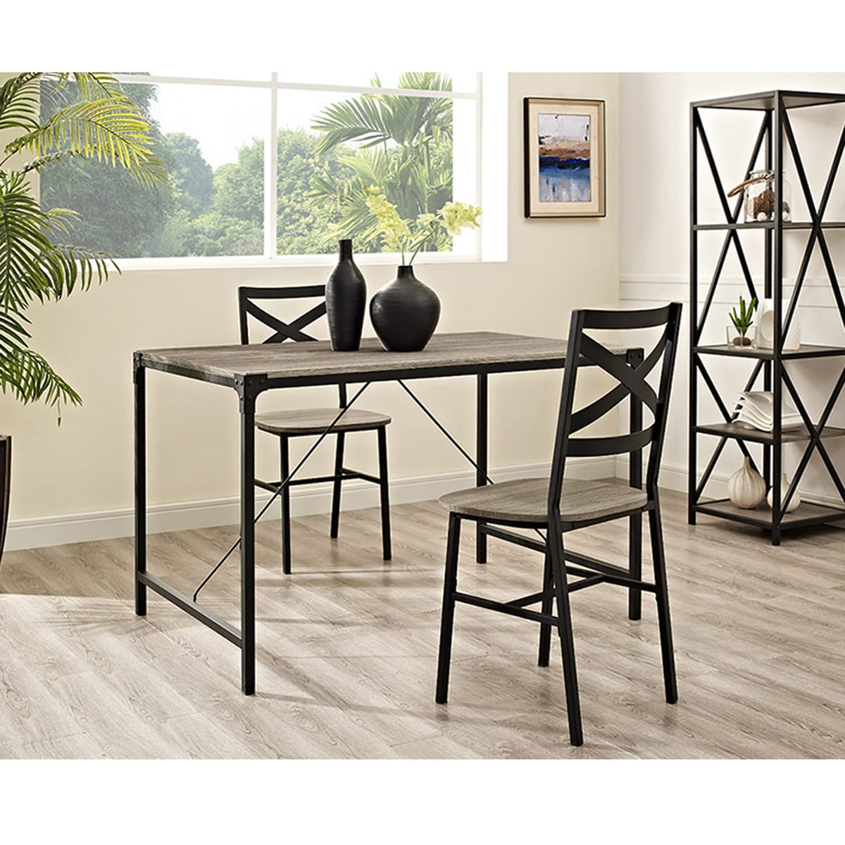 Most Current Angle Iron 48 Inch Wood Dining Table – Driftwoodwalker Regarding Transitional Driftwood Casual Dining Tables (View 16 of 25)