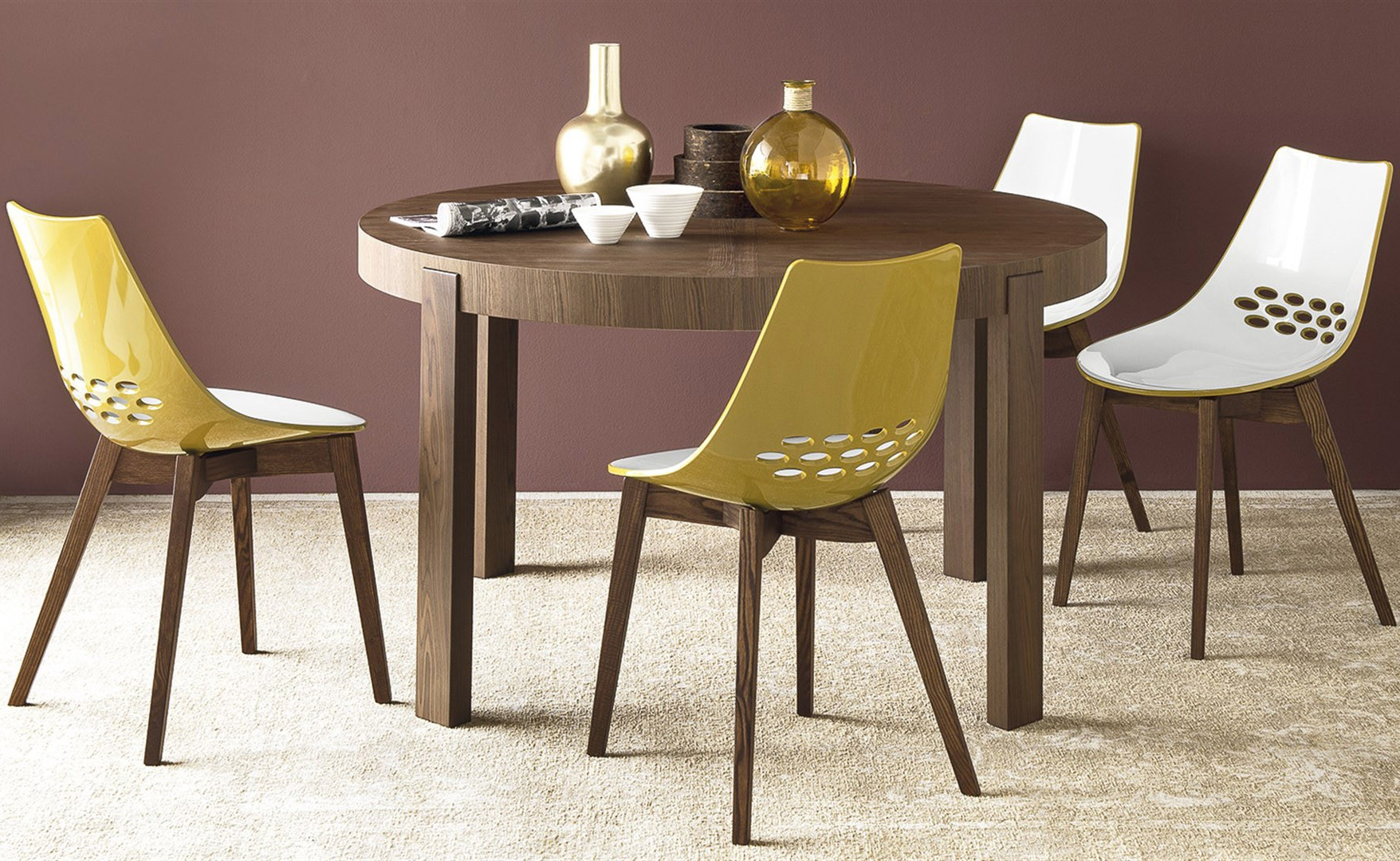 Most Current Calligaris Cs/398 Rd Atelier Round Dining Table, Italy – Neo Pertaining To Neo Round Dining Tables (View 9 of 25)