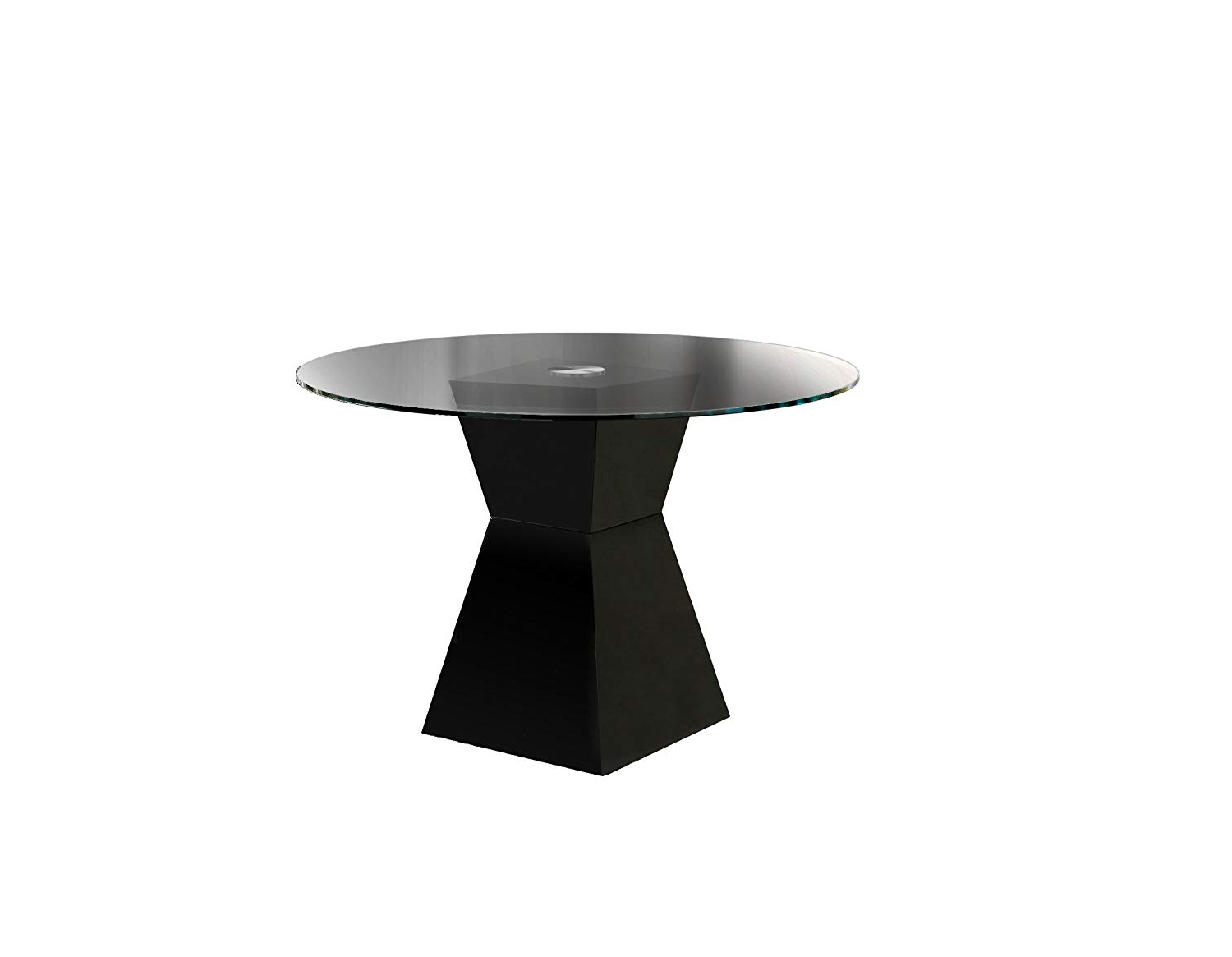 Most Current Modern Round Glass Top Dining Tables With Amazon: Furniture Of America Ethervale Modern Round (View 15 of 25)