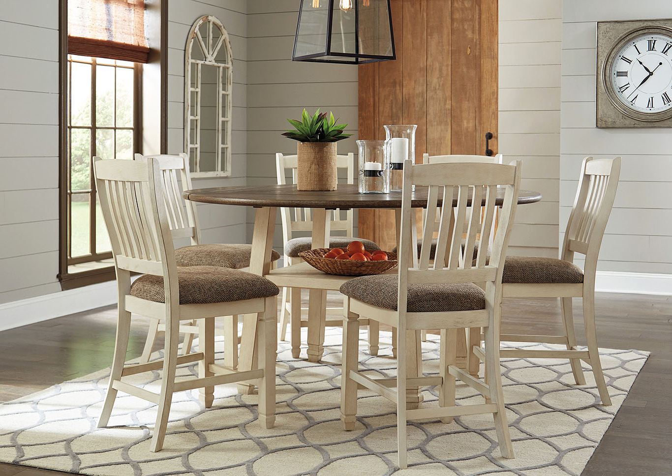 Most Current Transitional Drop Leaf Casual Dining Tables With Regard To Brian's Furniture – Corbin, Ky Bolanburg Antique White Round (View 23 of 25)