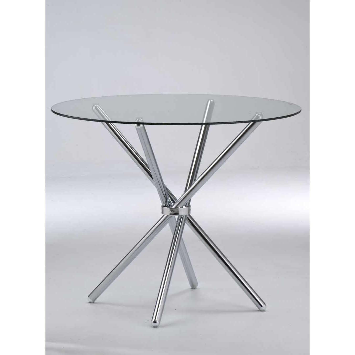 Most Current Verona Round Dining Table Clear Tempered Glass/chrome Legs Intended For Chrome Dining Tables With Tempered Glass (View 2 of 25)