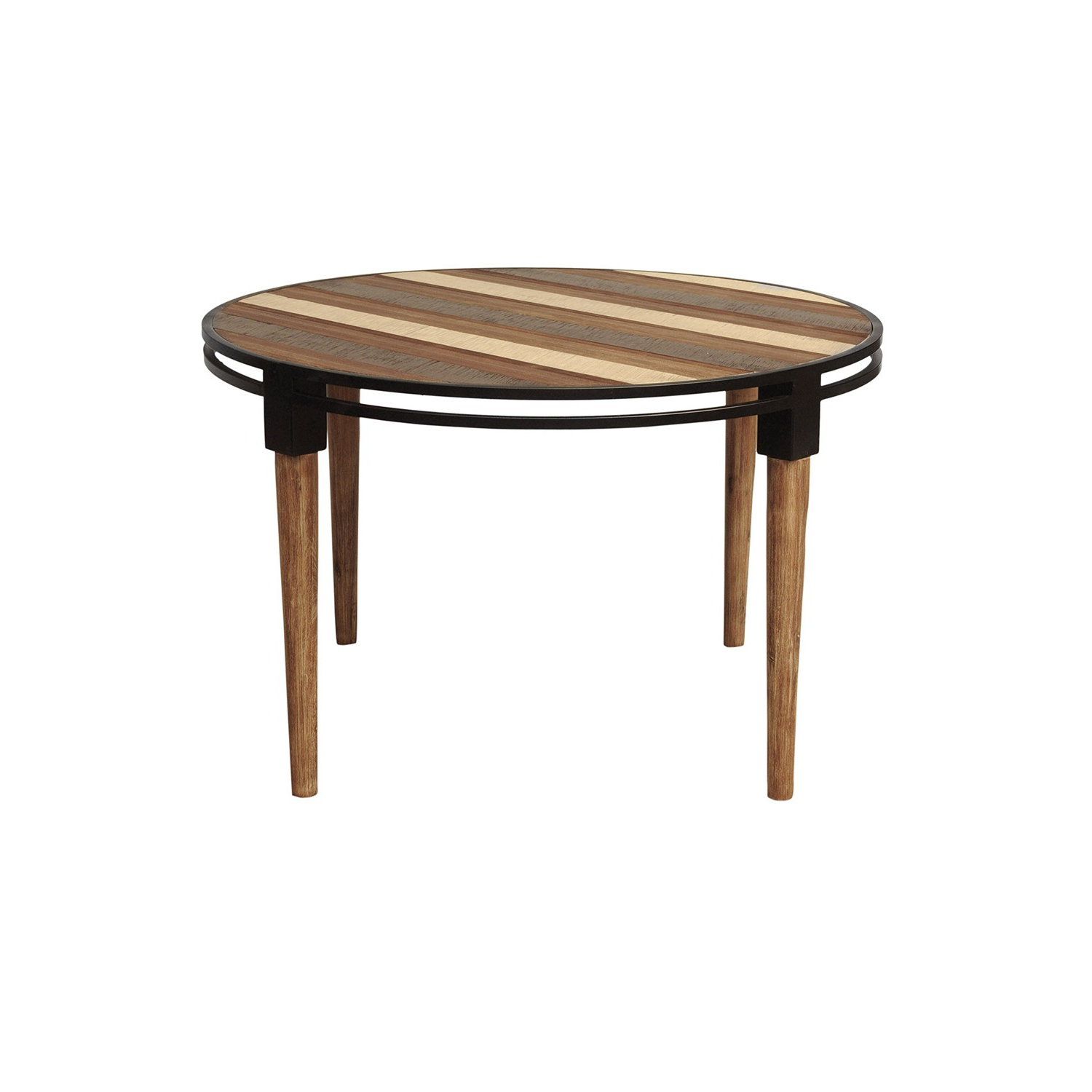 Most Popular Acacia Wood Medley Medium Dining Tables With Metal Base Within Medley Round Dining Table (View 7 of 26)